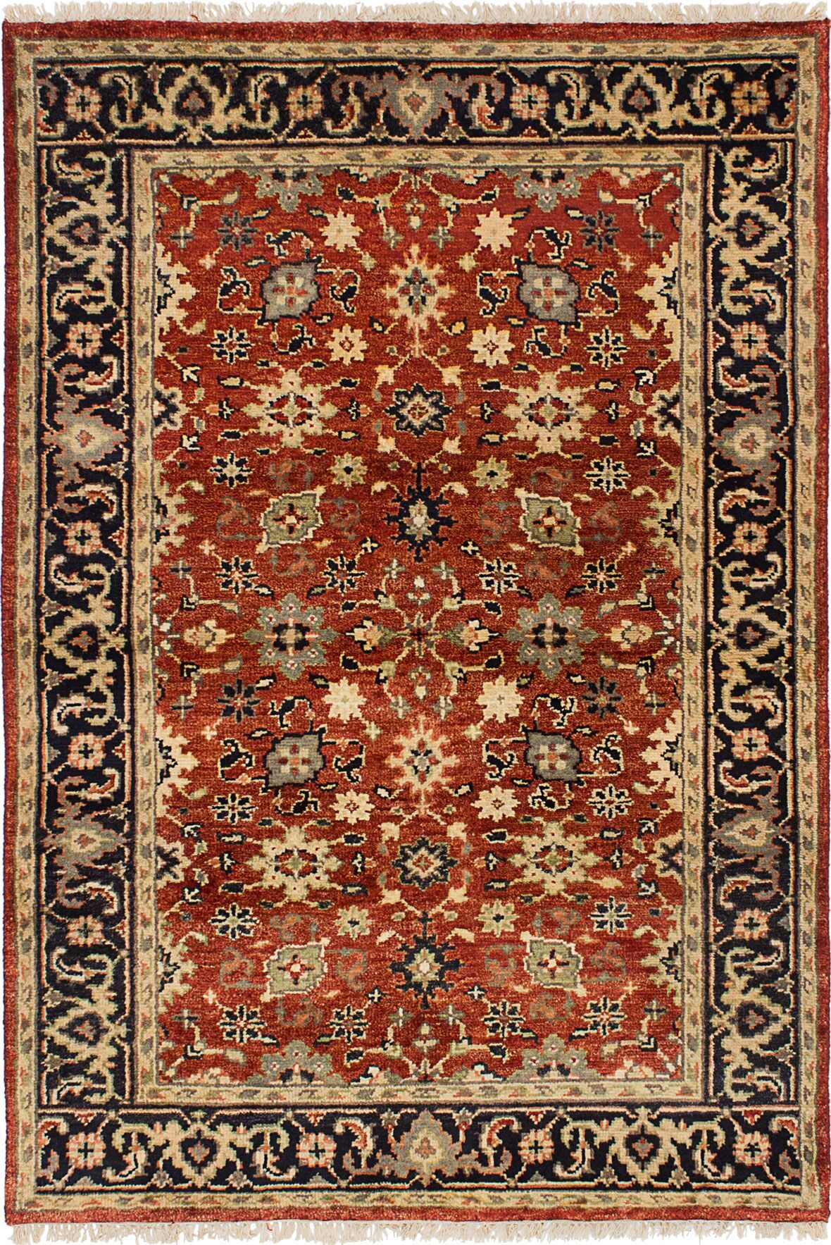 One-of-a-Kind Doerr Hand Knotted Wool Red Area Rug