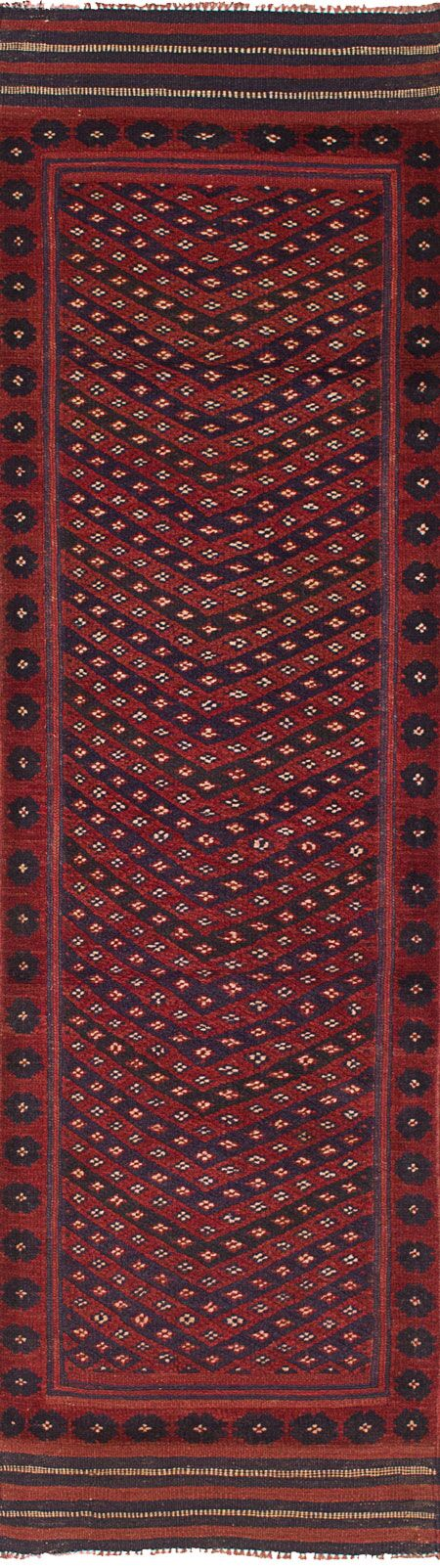 One-of-a-Kind Dizon Hand Knotted Wool Red Area Rug