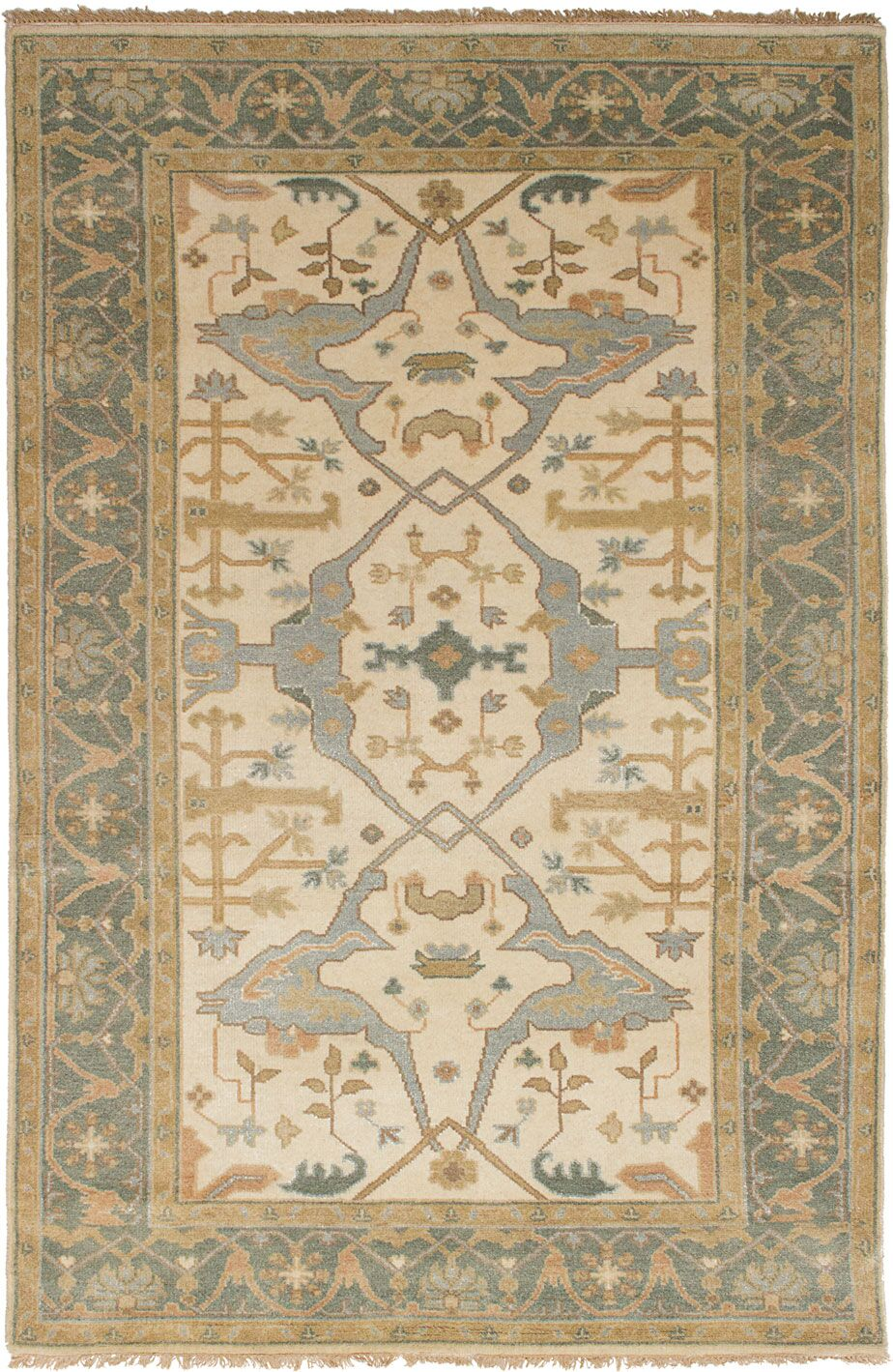 One-of-a-Kind Doggett Hand Knotted Wool Cream Area Rug
