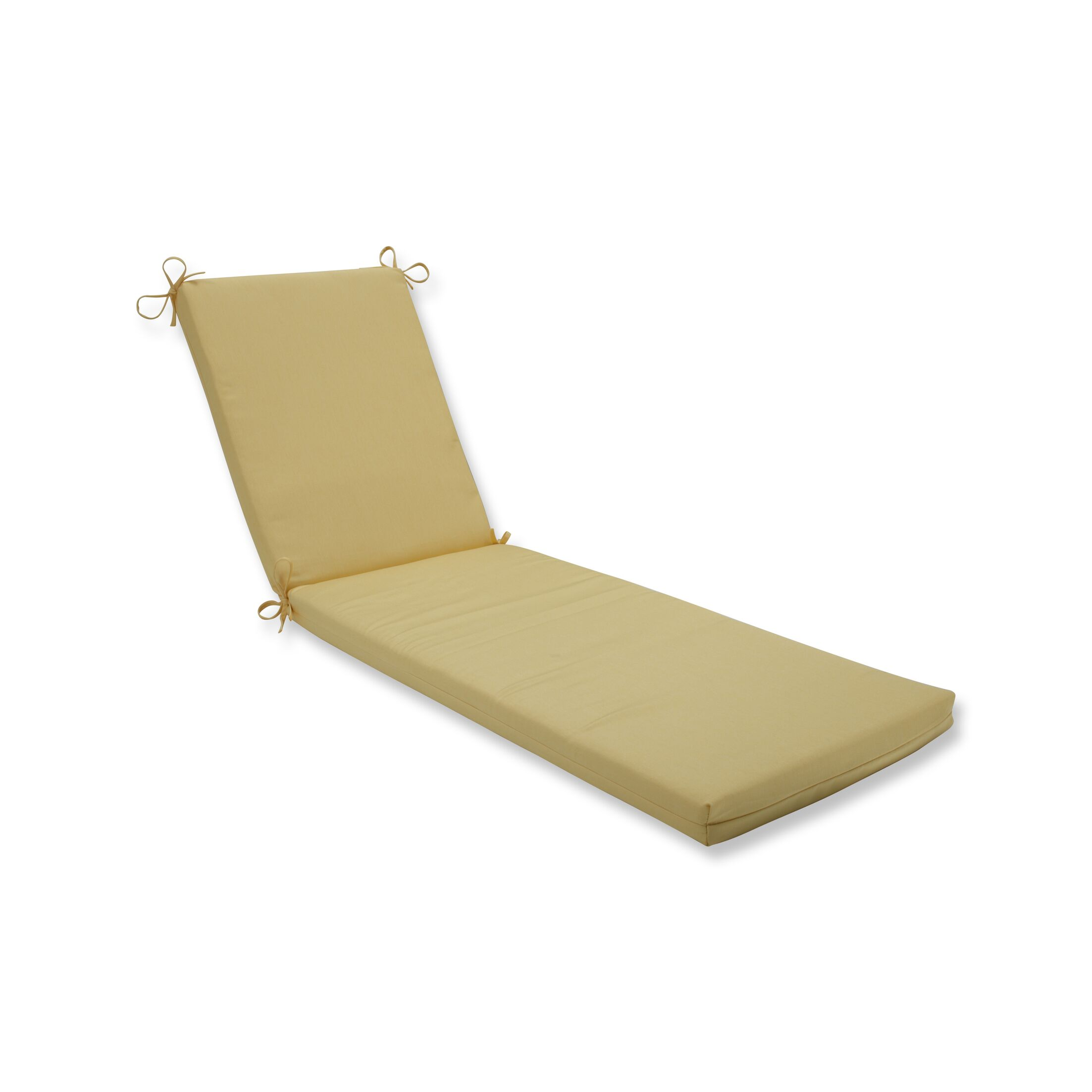 Indoor/Outdoor Chaise Lounge Cushion Fabric: Light Yellow