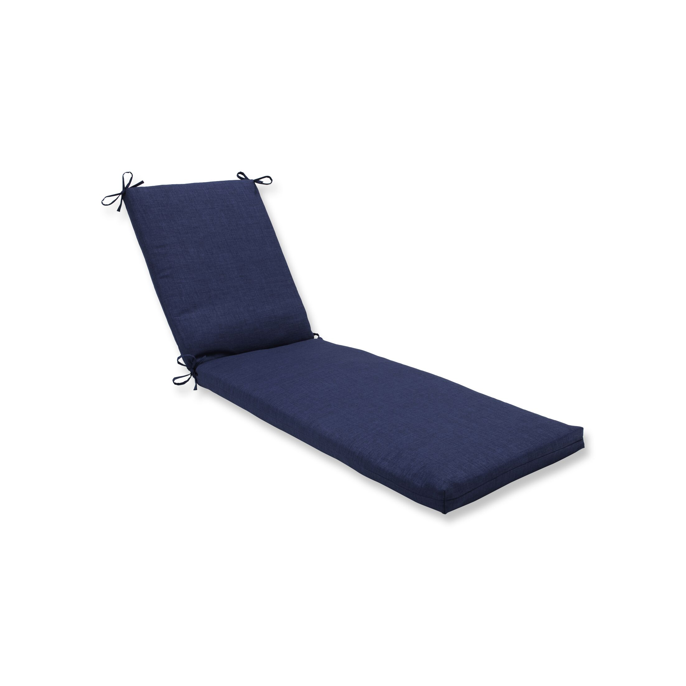 Indoor/Outdoor Chaise Lounge Cushion Fabric: Navy