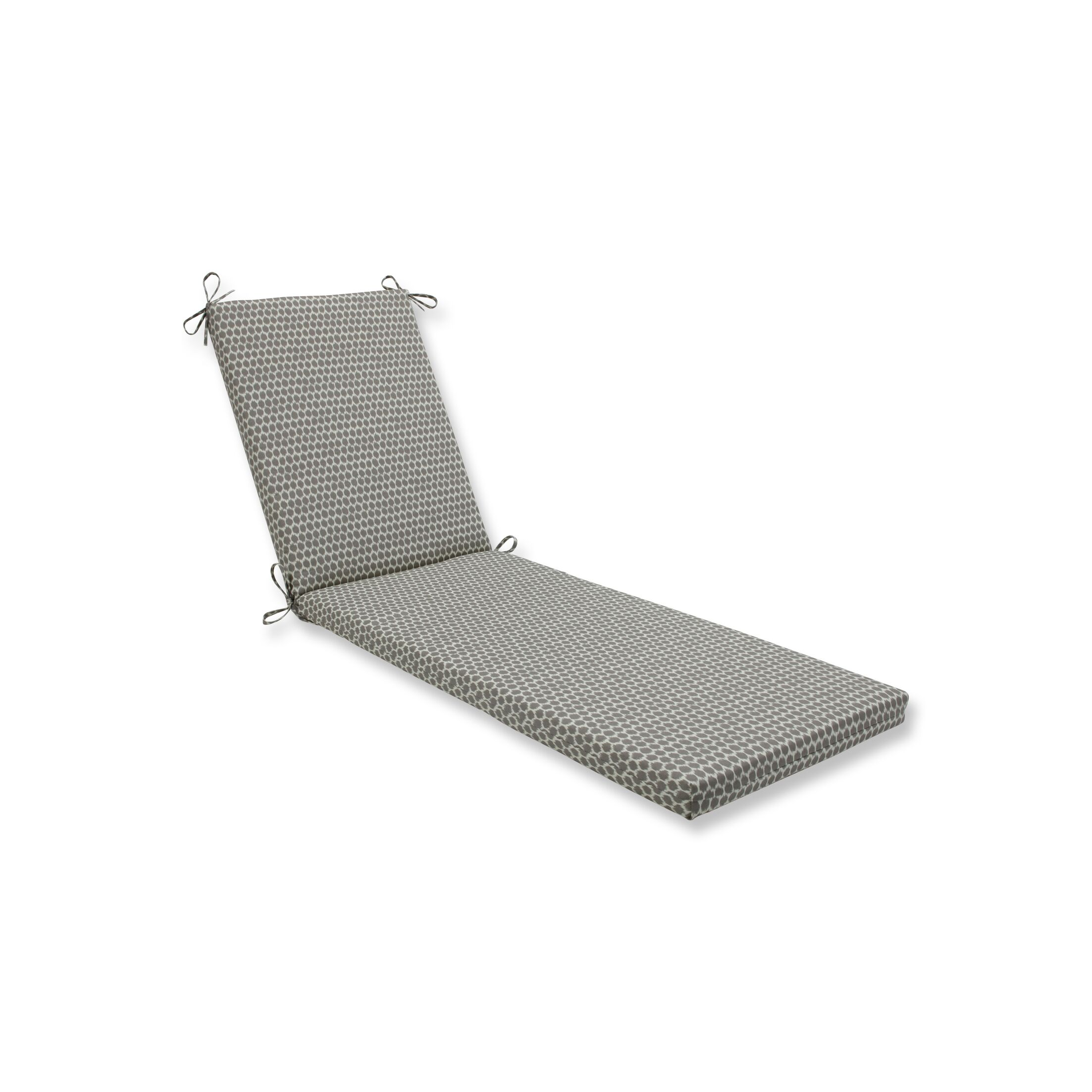 Indoor/Outdoor Chaise Lounge Cushion Fabric: Gray