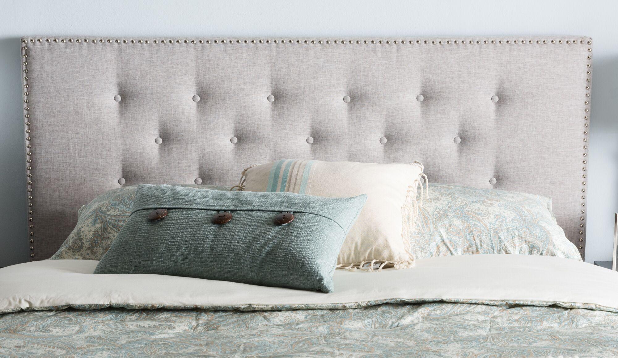 Planas Upholstered Panel Headboard Color: Black, Size: King
