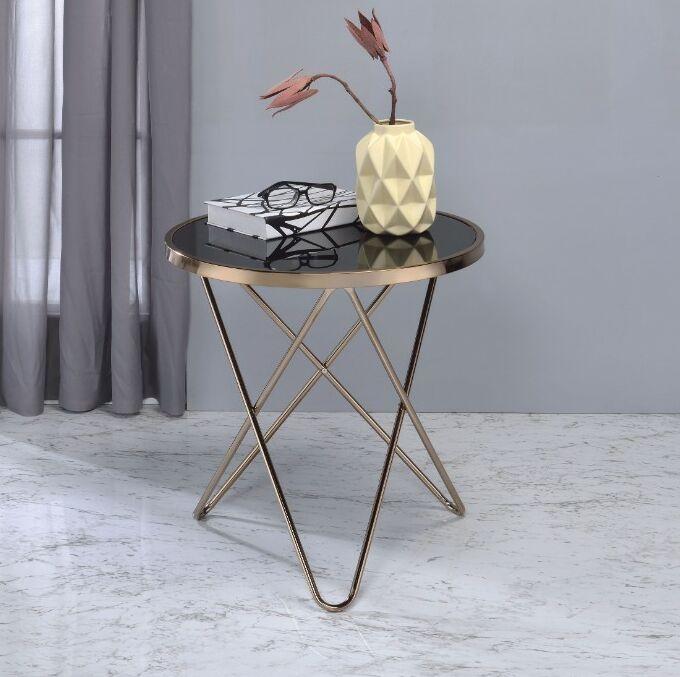 Brockman End Table Table Top Color: Black