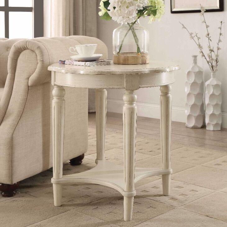 Jantz End Table Table Top Color: White