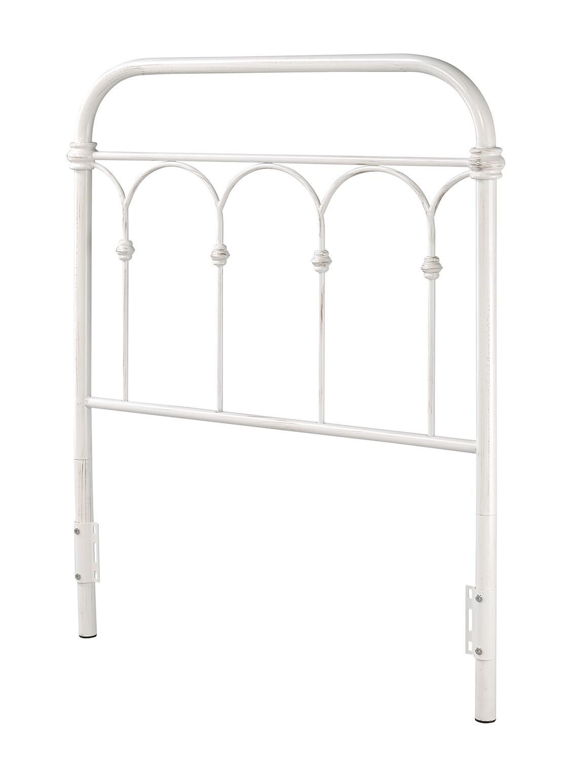 Letterly Panel Bed Color: Antique White, Size: King