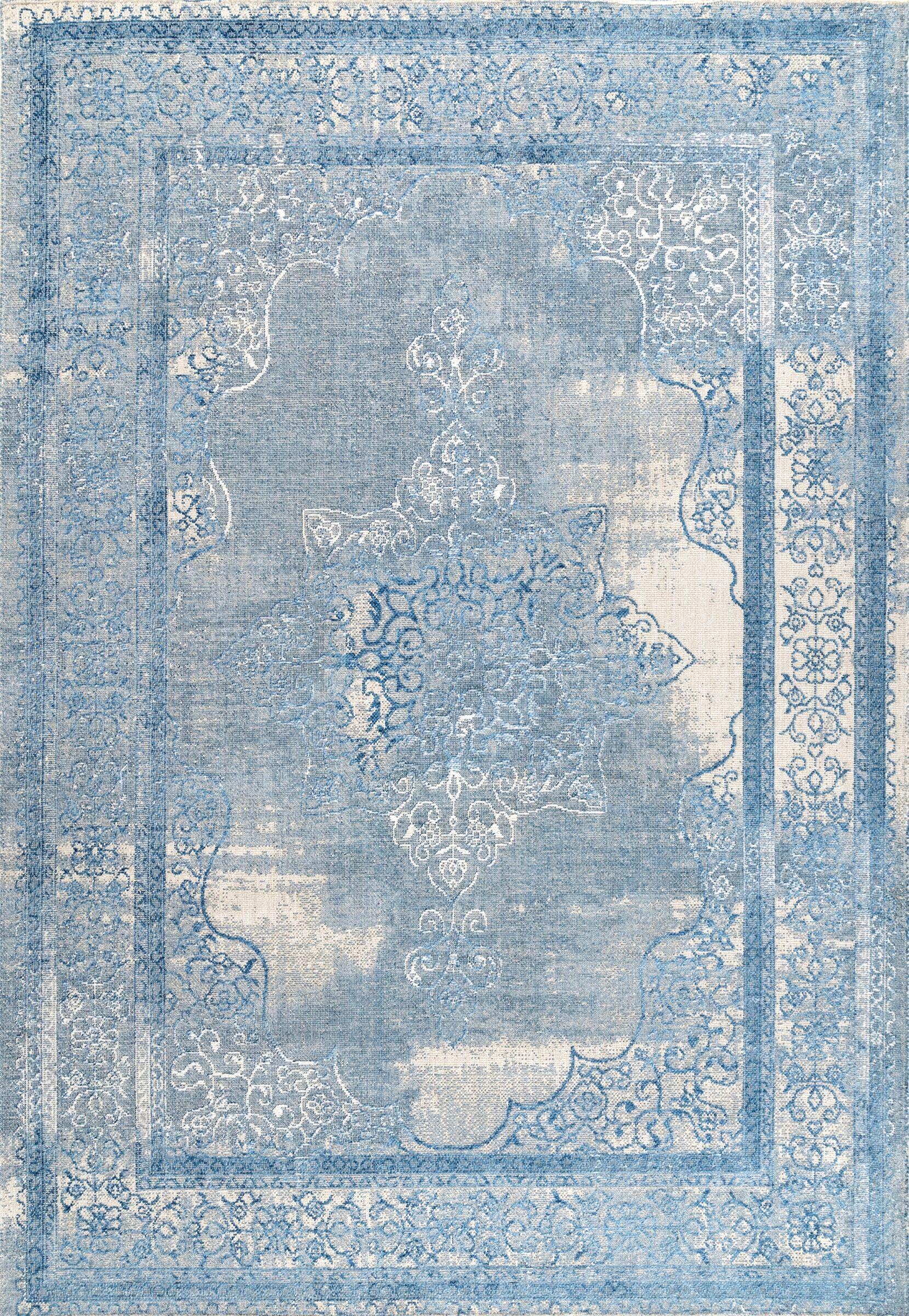 Johnstone Blue Area Rug Rug Size: Rectangle 4' x 6'