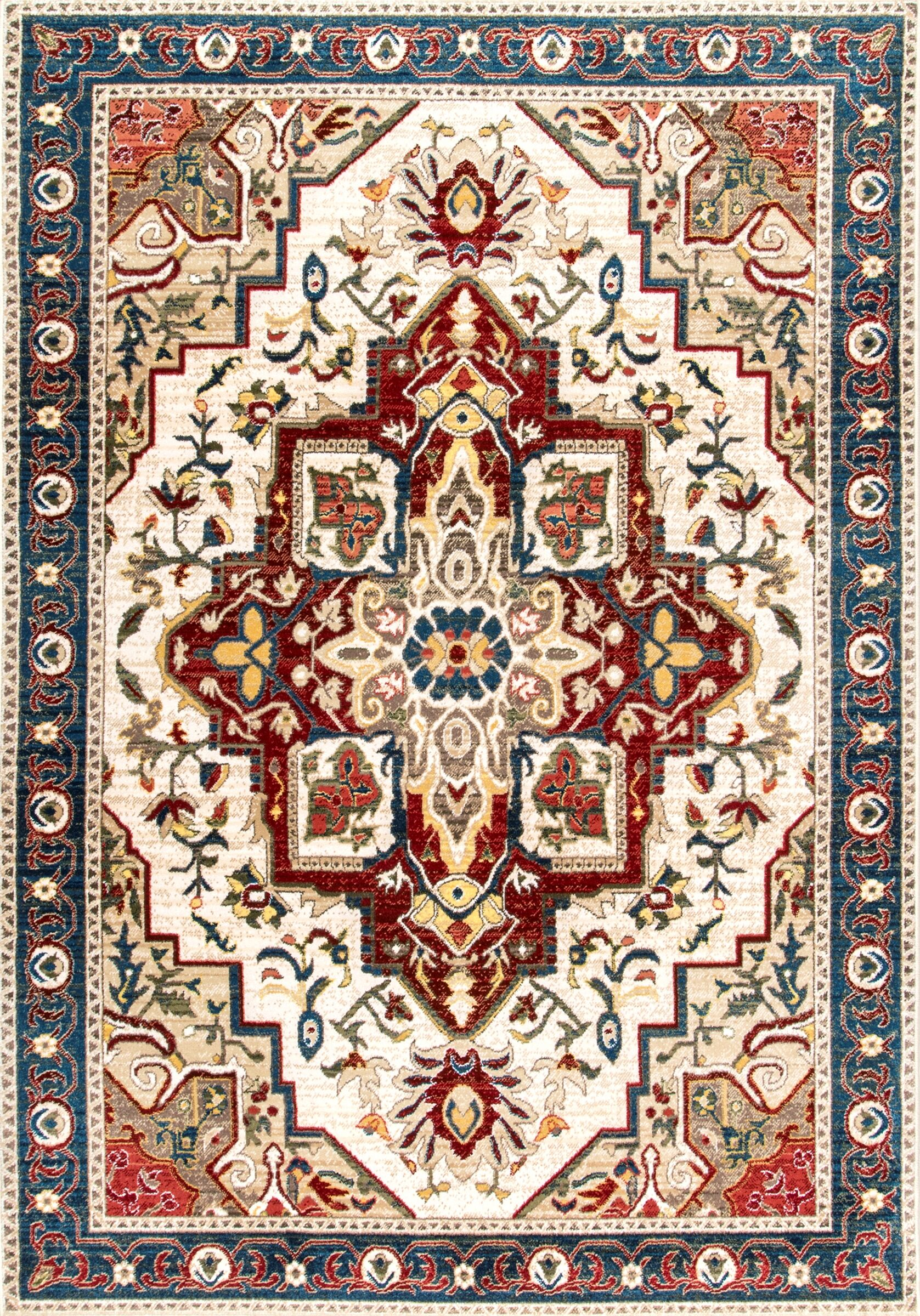 Durden Red/Beige Area Rug Rug Size: Rectangle 9' x 12'