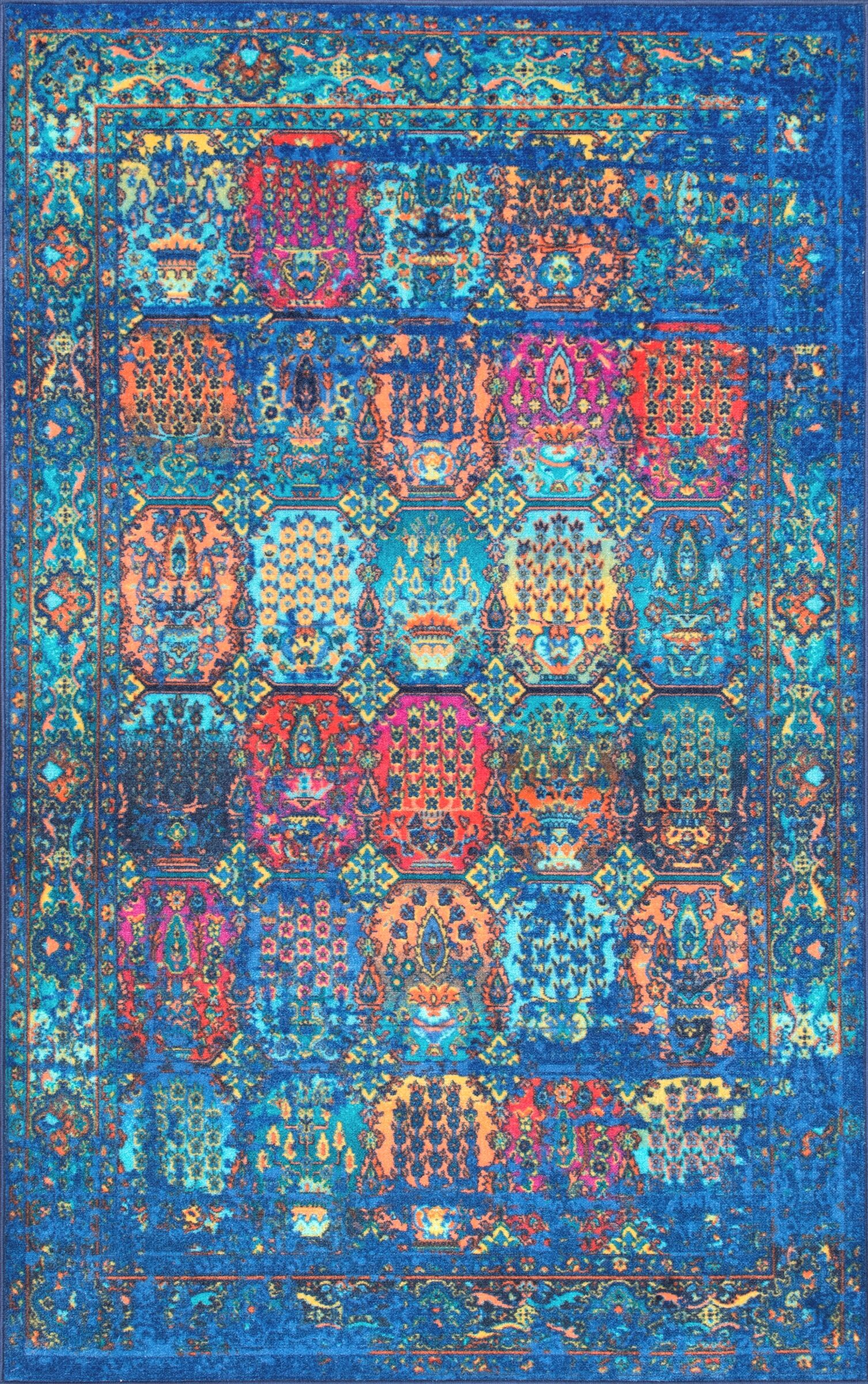 Chang Dark Blue Area Rug Rug Size: Rectangle 5' x 8'