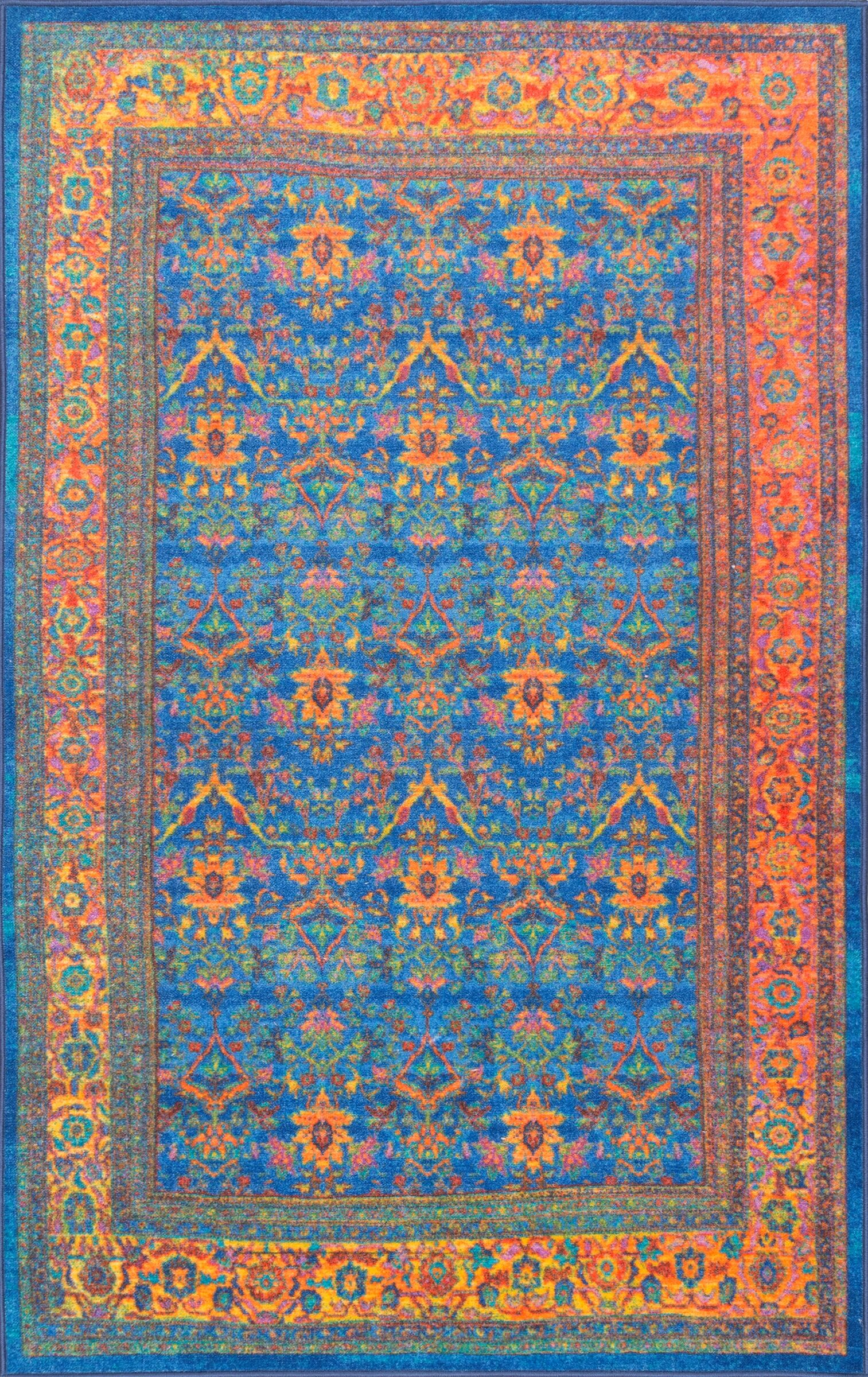 Durgin Blue Area Rug Rug Size: Rectangle 8' x 10'