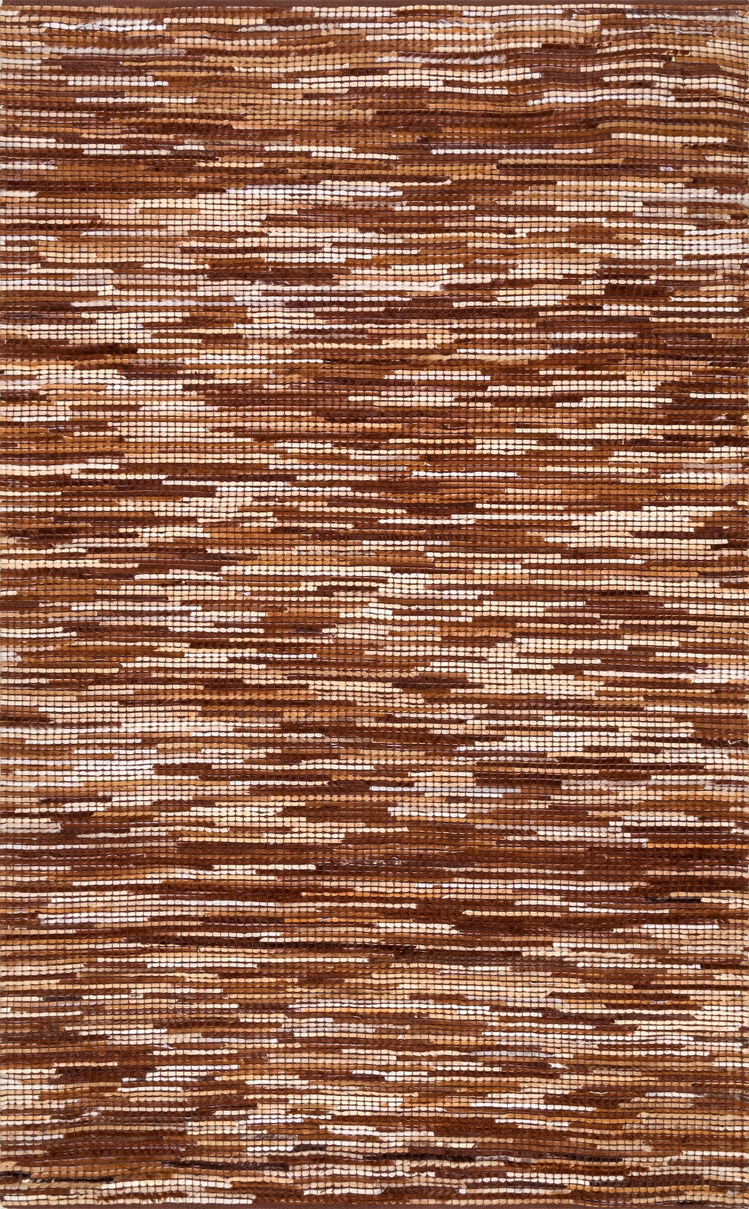 Olander Hand-Woven Light Brown Area Rug Rug Size: Rectangle 7'6