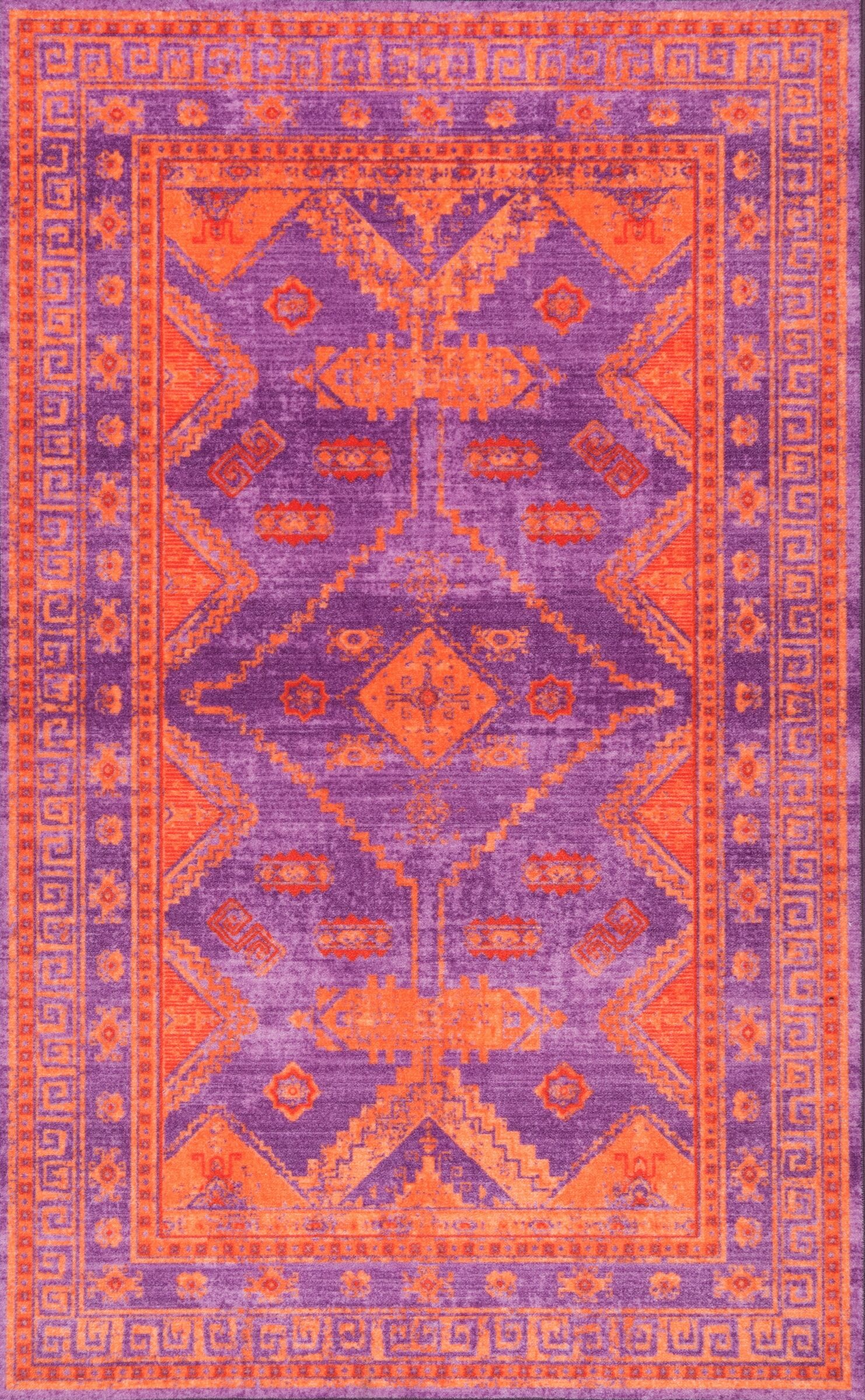 Channel Purple Area Rug Rug Size: Rectangle 5' x 8'