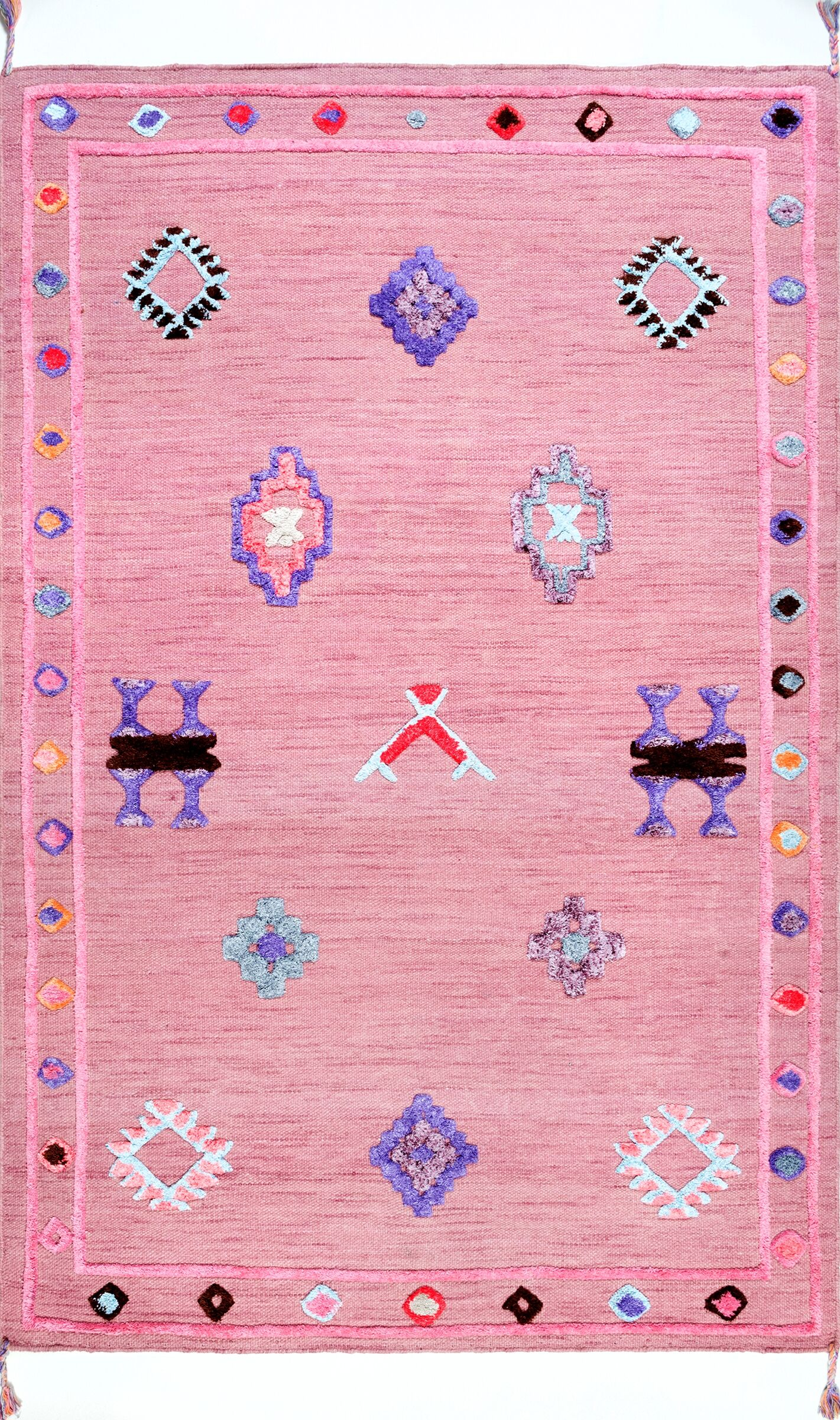 Chacon Hand-Tufted Pink Area Rug Rug Size: Rectangle 4' x 6'