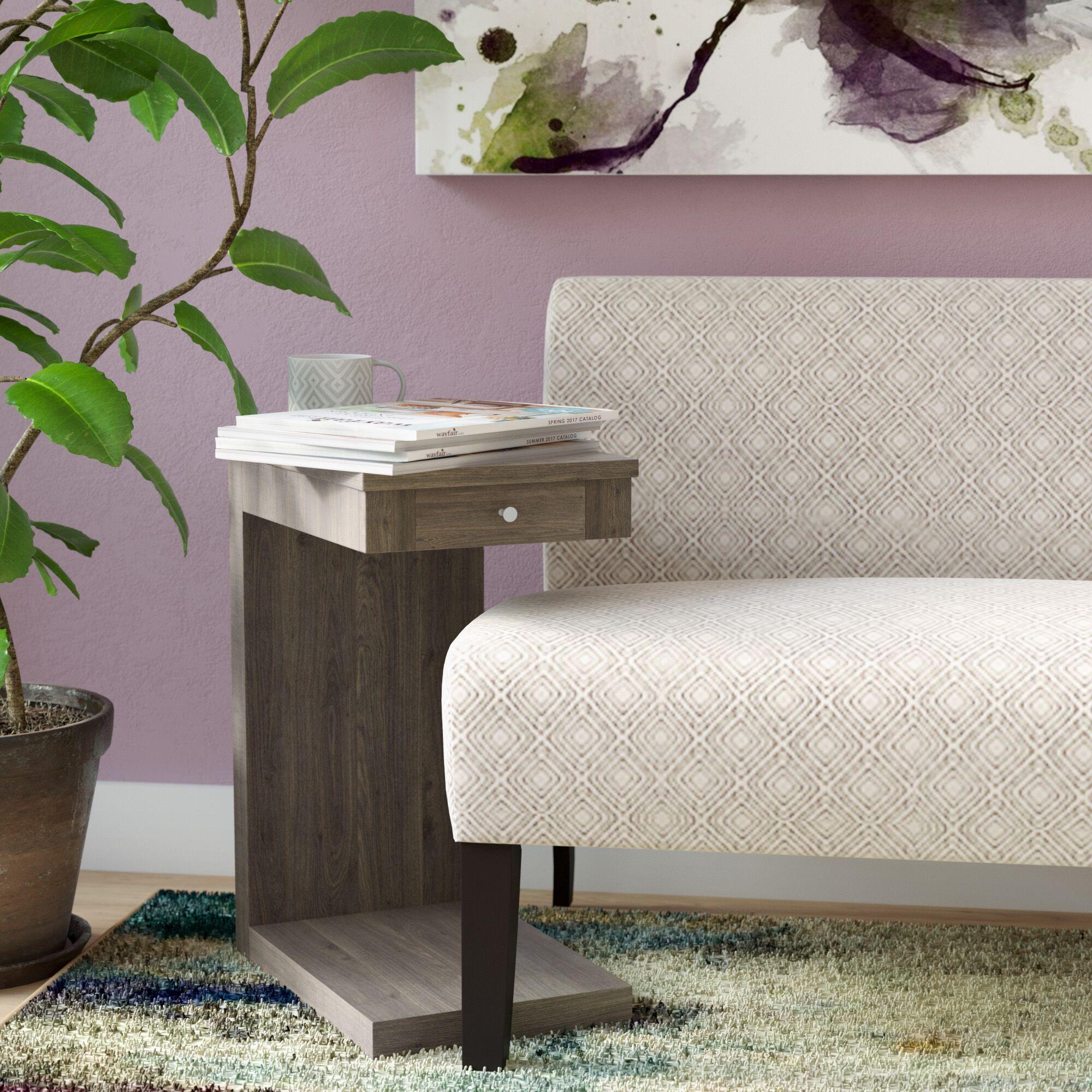 Waneta End Table Color: Dark Taupe