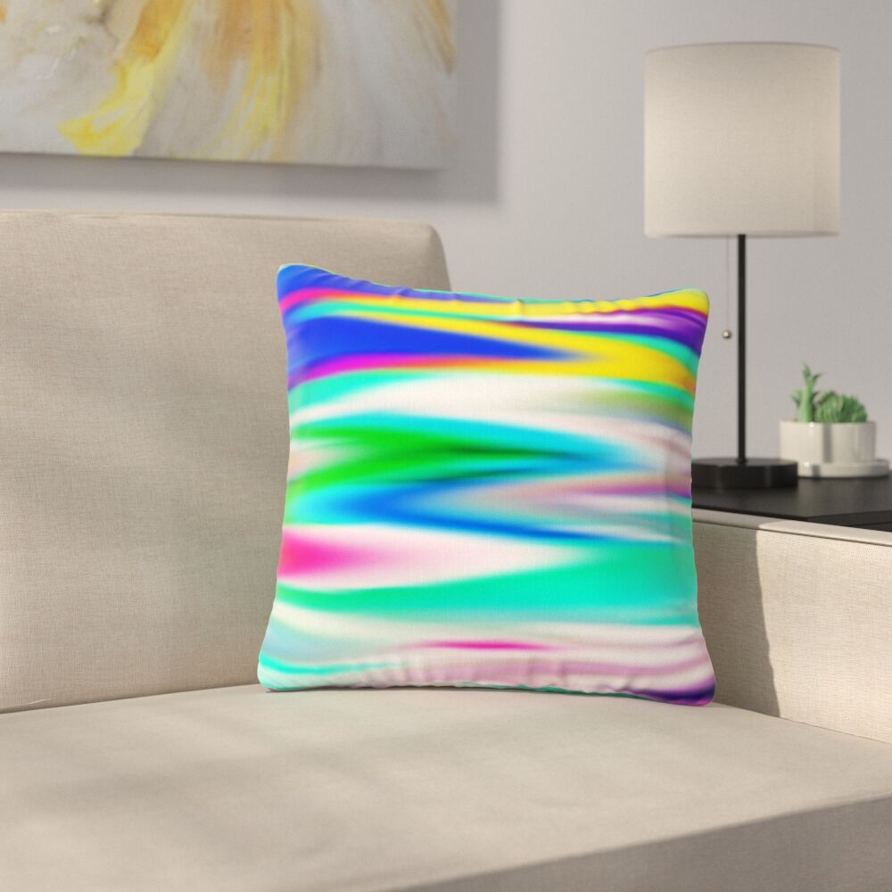 Dawid Roc Lively Atmosphere Abstract Outdoor Throw Pillow Size: 16