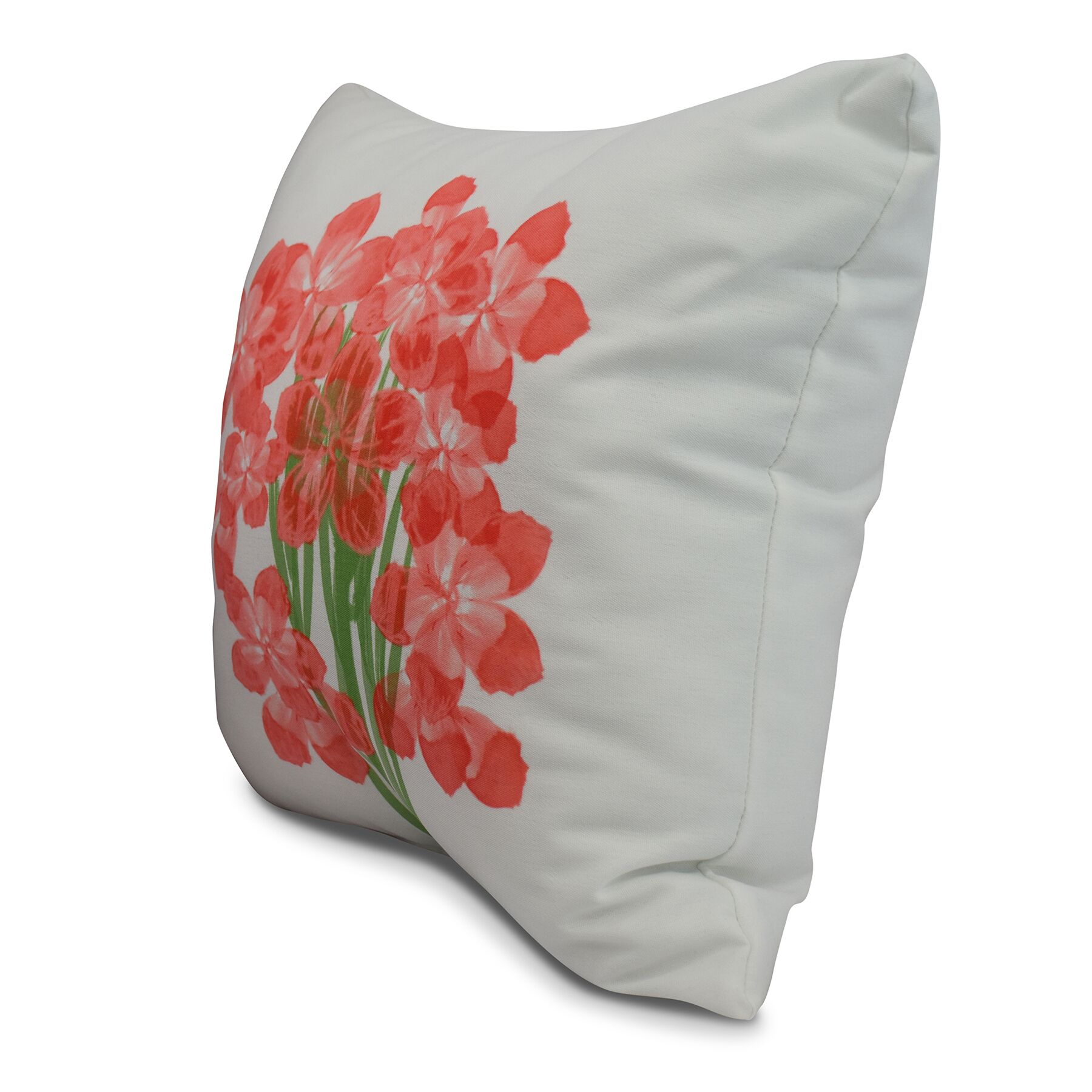 Chavis Throw Pillow Color: Orange, Size: 16