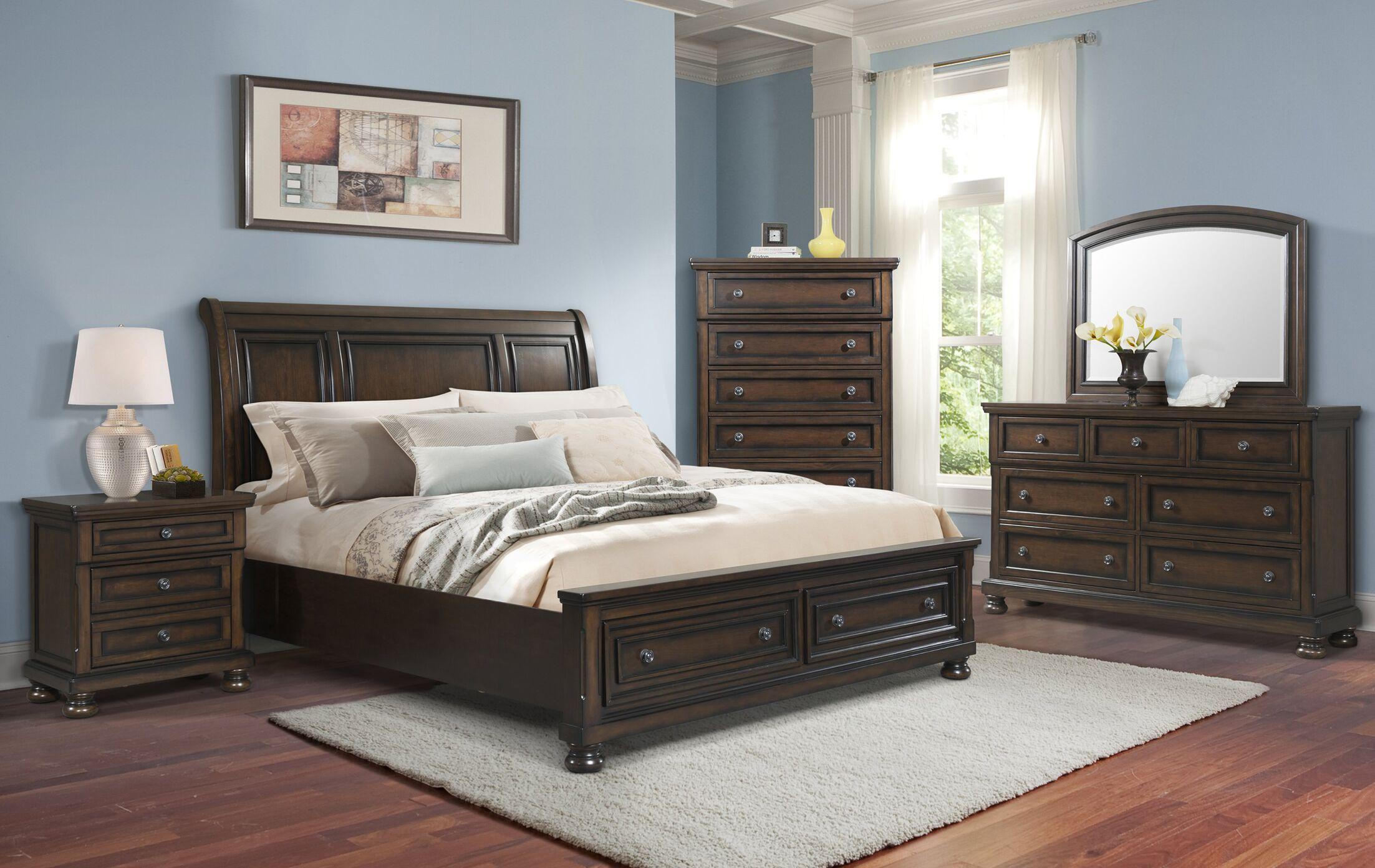 Guyton Storage Sleigh Bed Size: Queen
