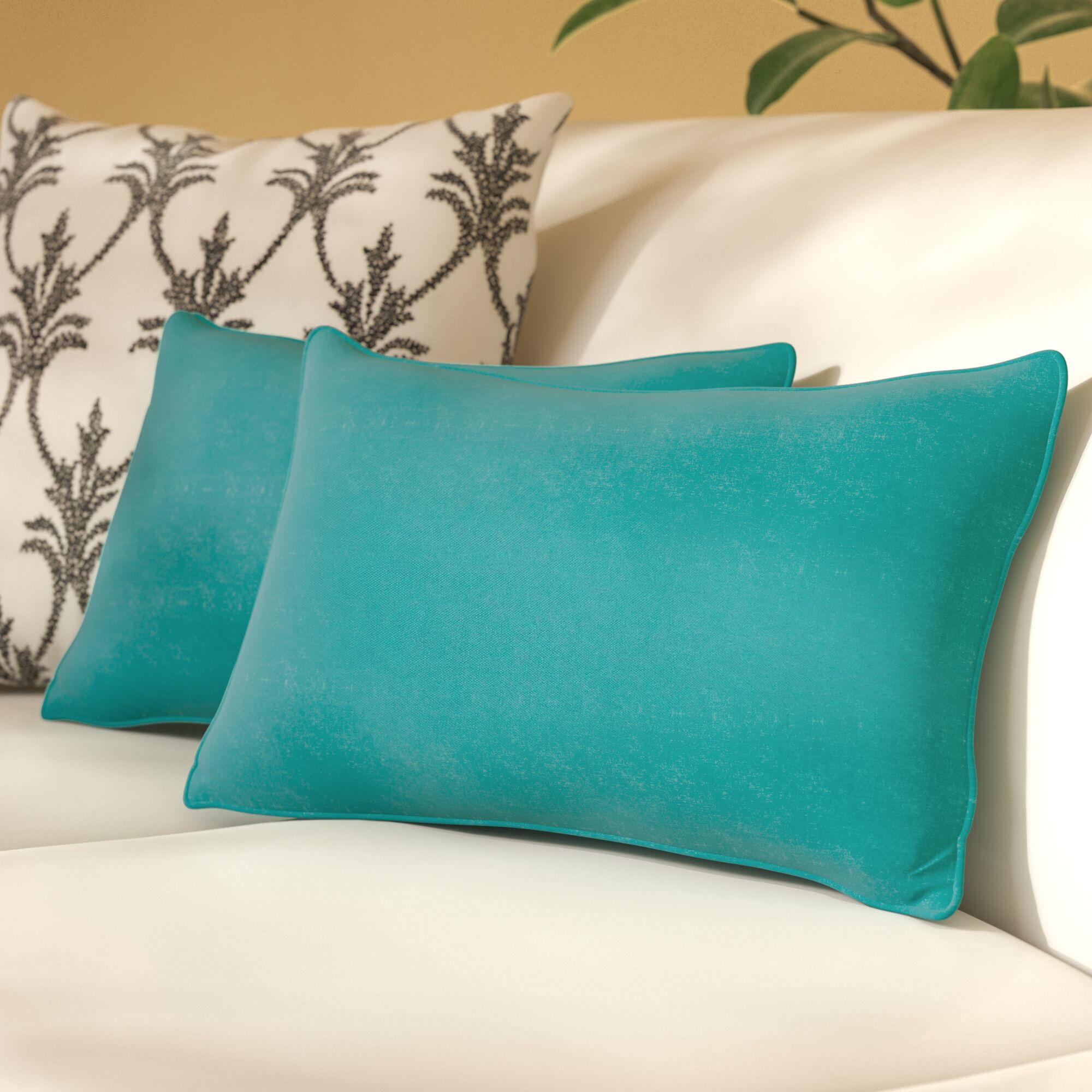 Paschall Lumbar Pillow Color: Aqua Blue
