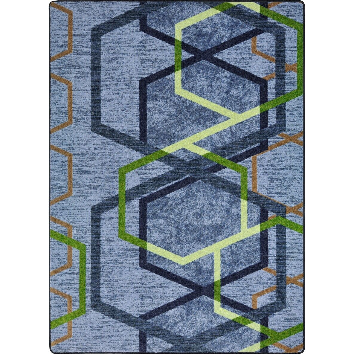 One-of-a-Kind Frasher Synthetic Blue/Green Area Rug Rug Size: Rectangle 5'4