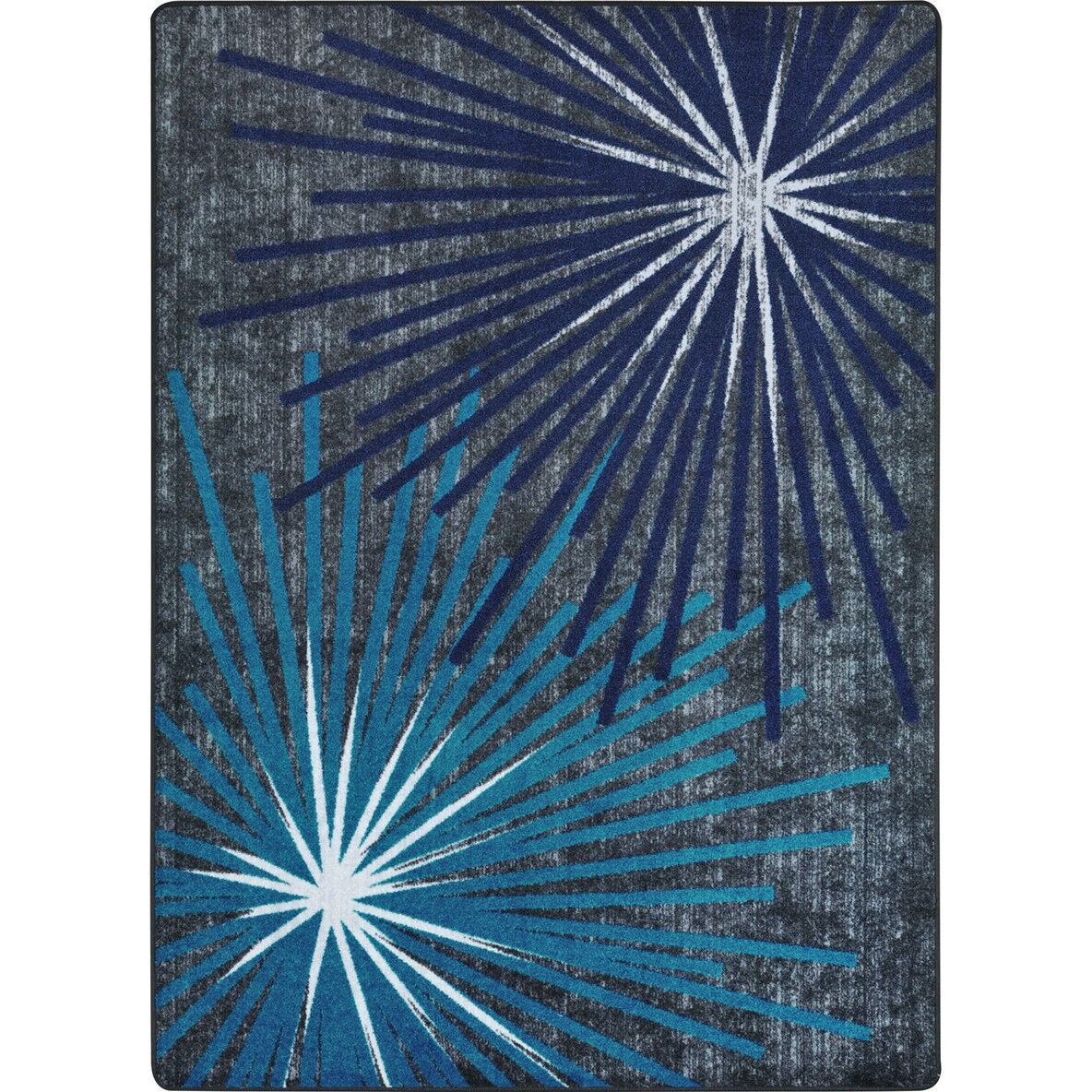 One-of-a-Kind Frasher Sputnik Hand Woven Blue/Gray Area Rug Rug Size: Rectangle 3'10