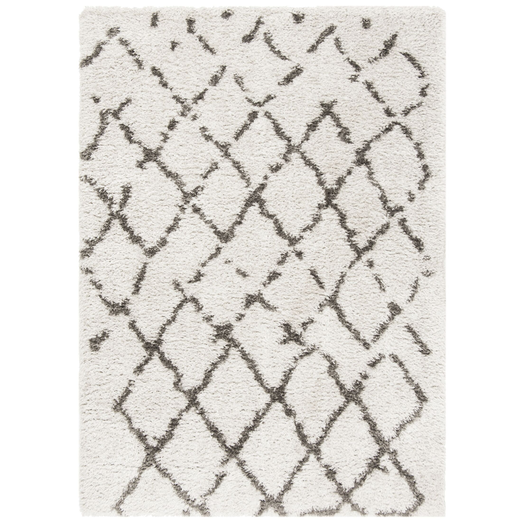 Casperson Silver/Charcoal Area Rug Rug Size: Rectangle 5' 3
