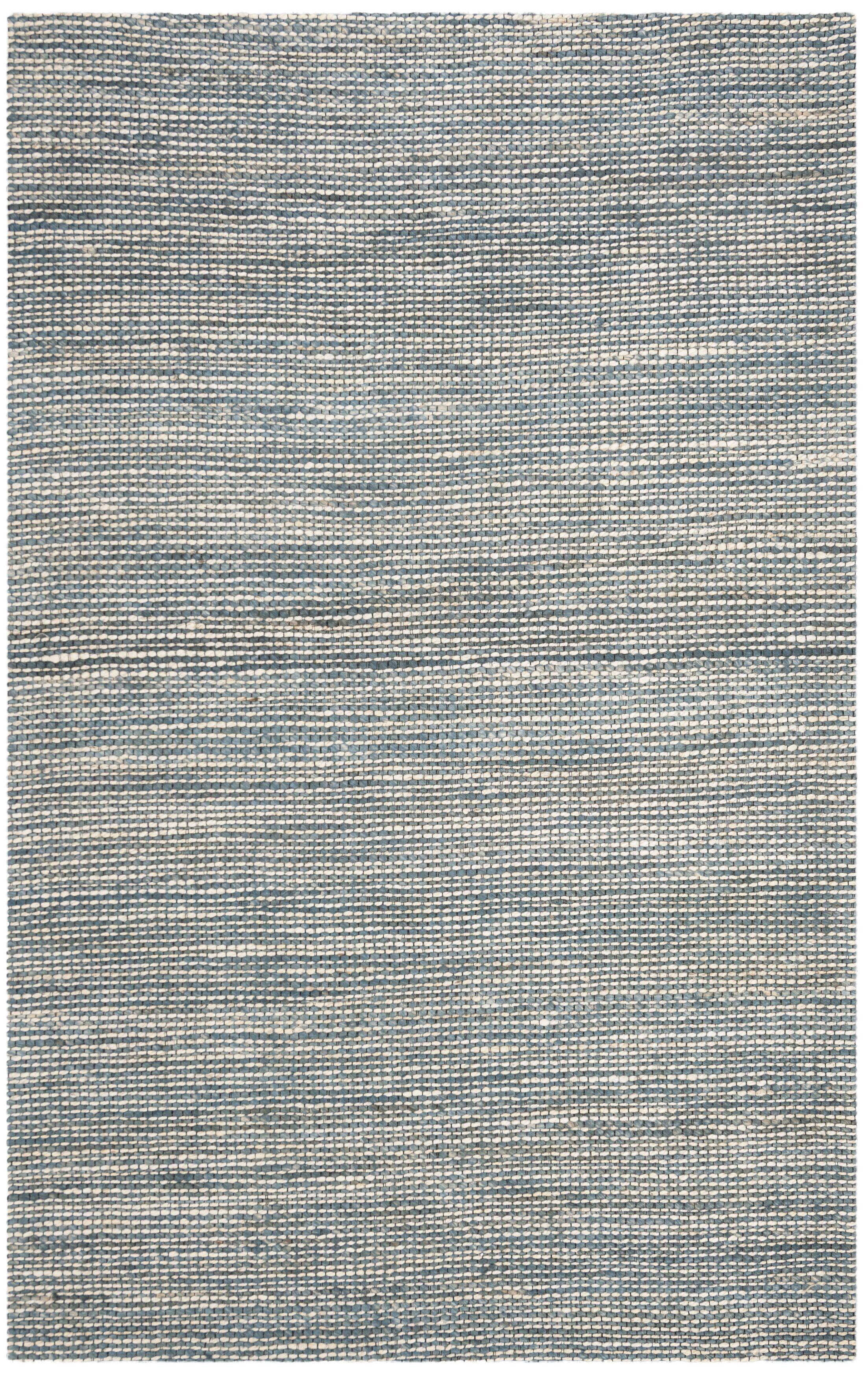 Burner Hand-Woven Blue/Ivory Area Rug Rug Size: Rectangle 4' x 6'