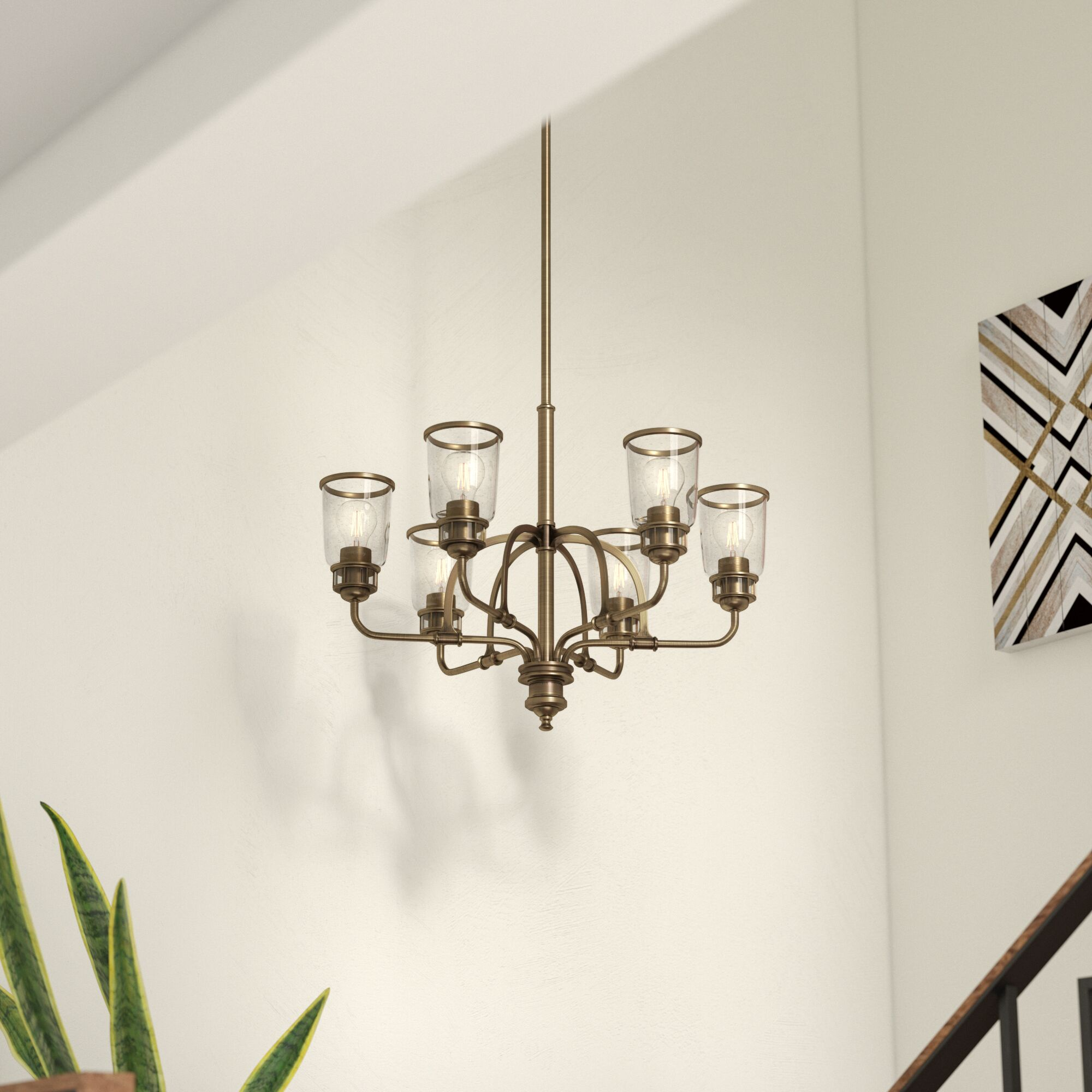 Laurenza Traditional 6-Light Shaded Chandelier Finish: Antique Brass