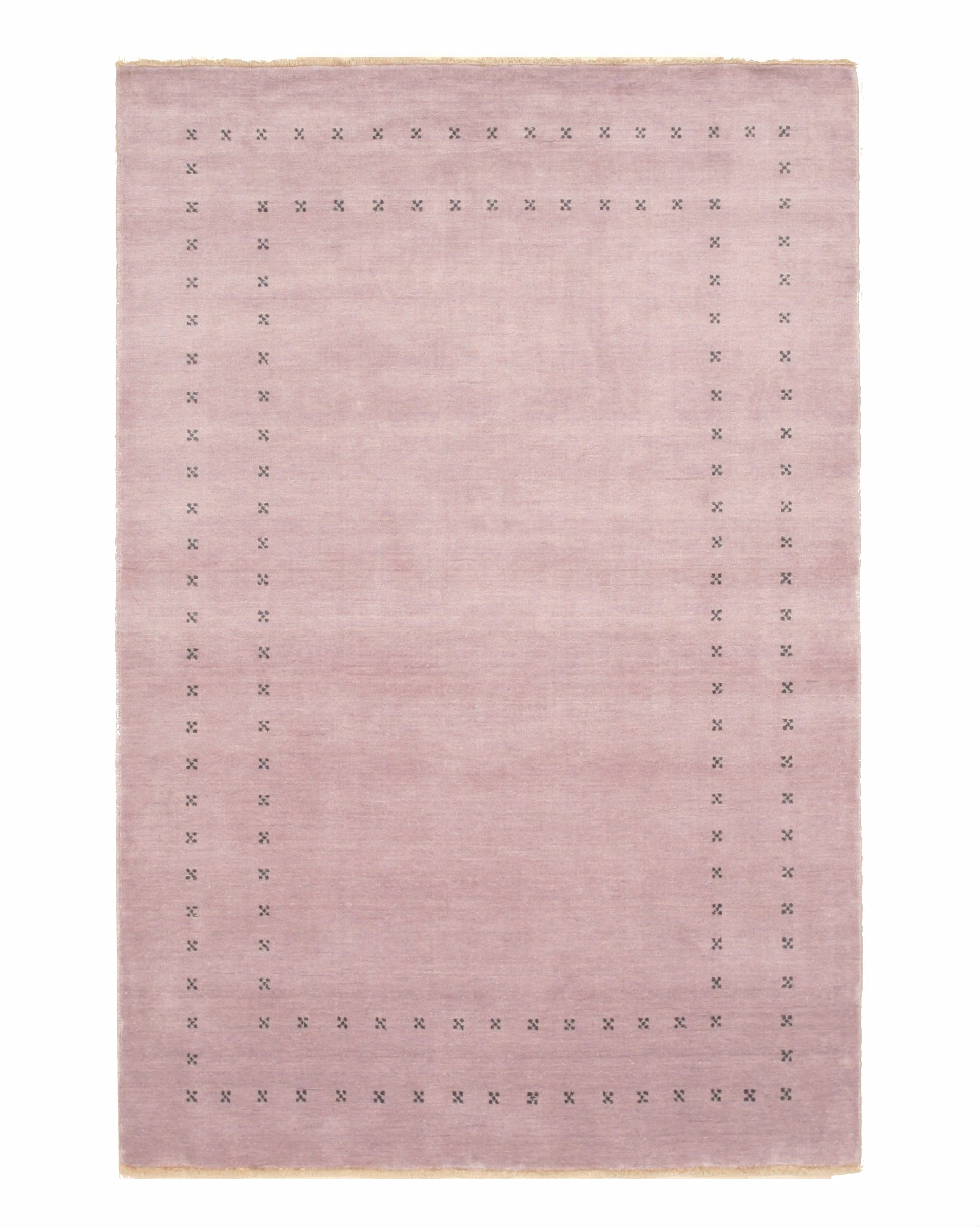 Dreher Transitional Solid Hand-Woven Wool Purple Area Rug Rug Size: Rectangle 8' x 10'