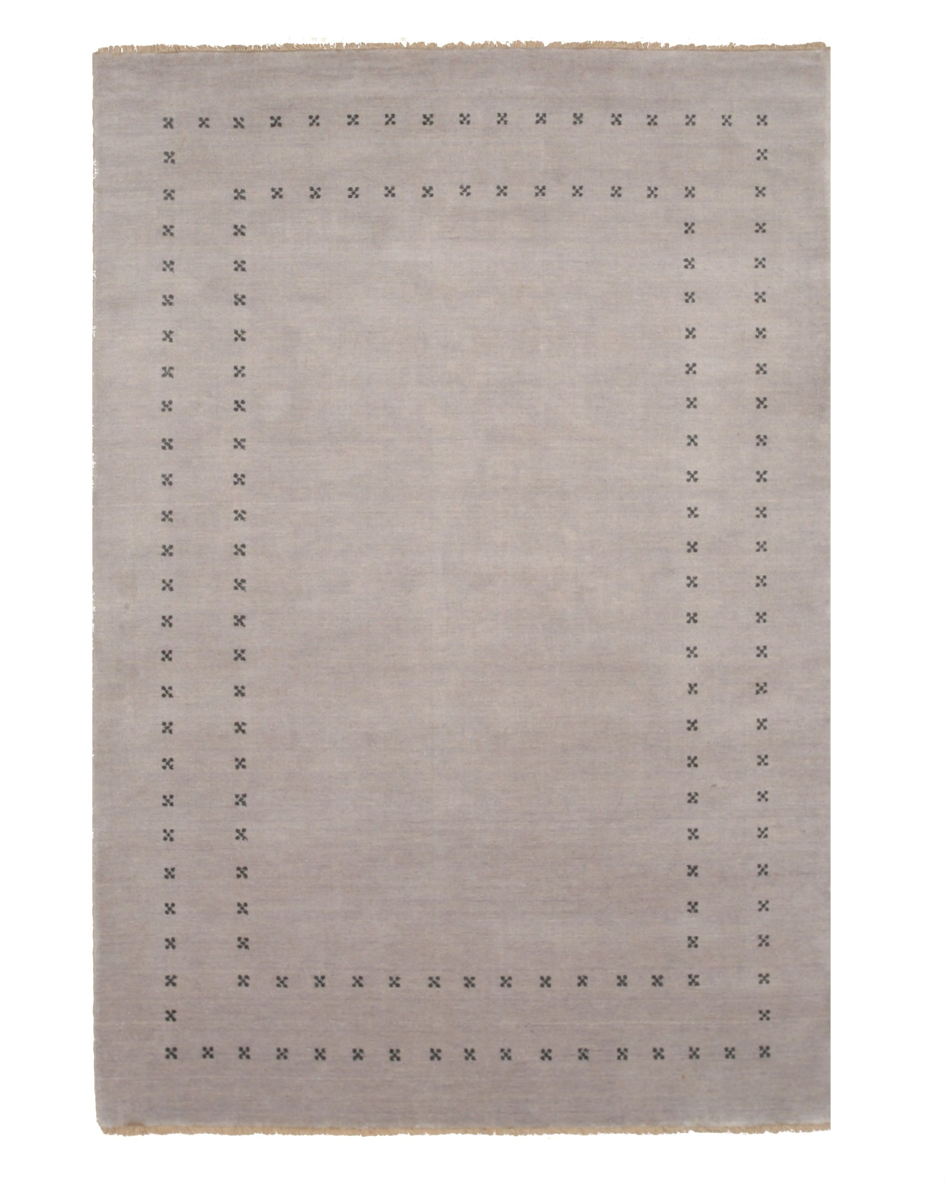 Dreher Transitional Solid Hand-Woven Wool Gray Area Rug Rug Size: Rectangle 9' x 12'