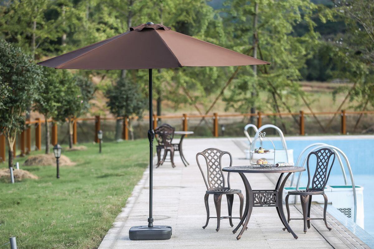 9' Market Umbrella Fabric Color: Brown