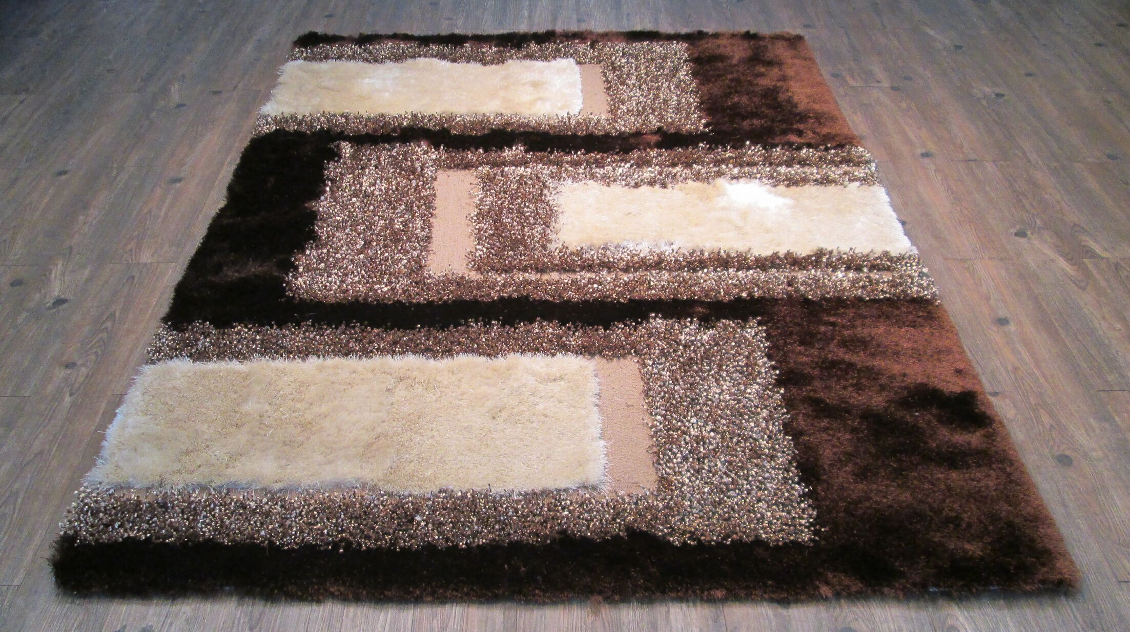 Yarbrough Hand-Tufted Brown/Beige Area Rug Rug Size: Rectangle 5' x 7'