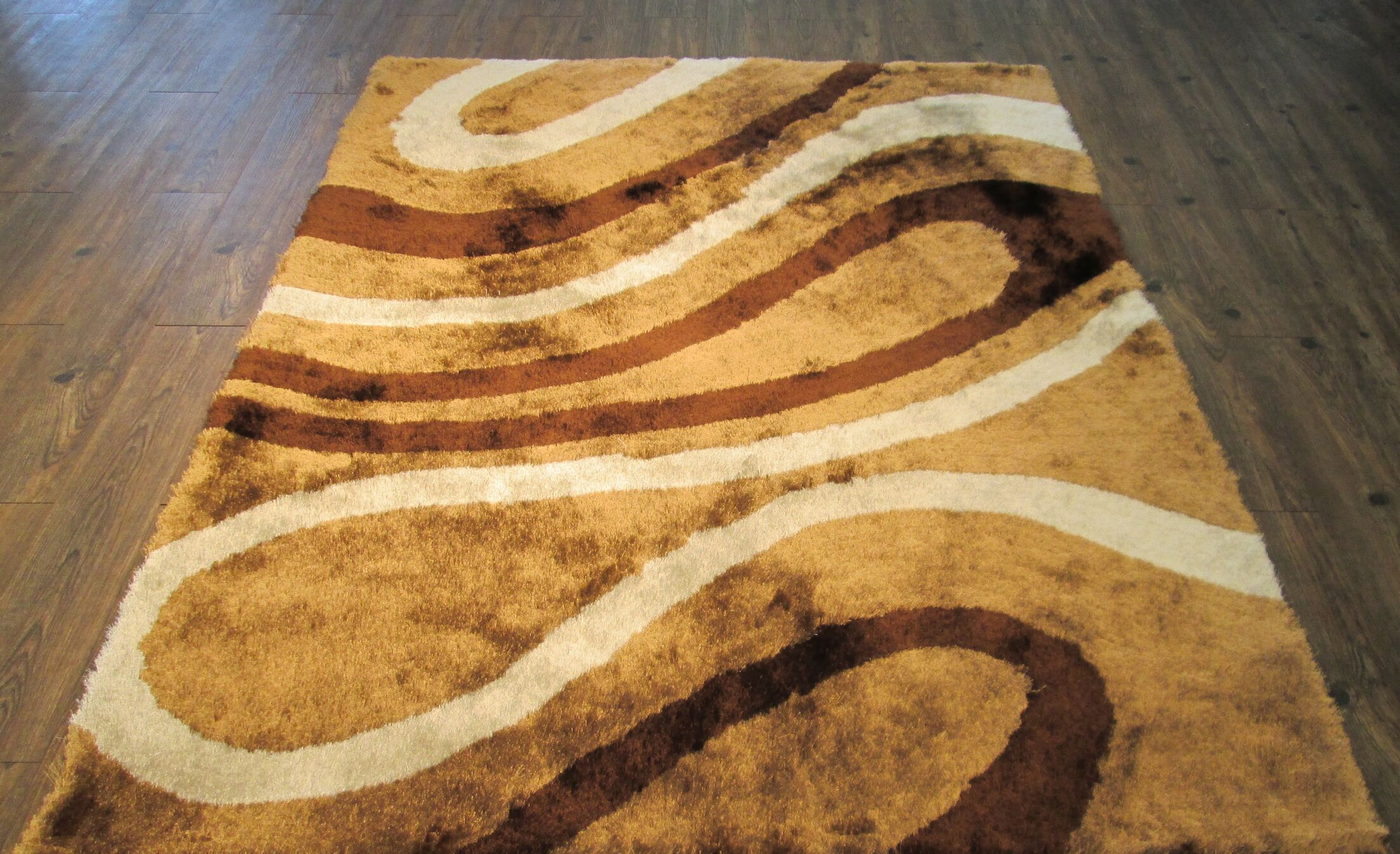 Yarbrough Hand-Tufted Brown/Yellow Area Rug Rug Size: Rectangle 7'6