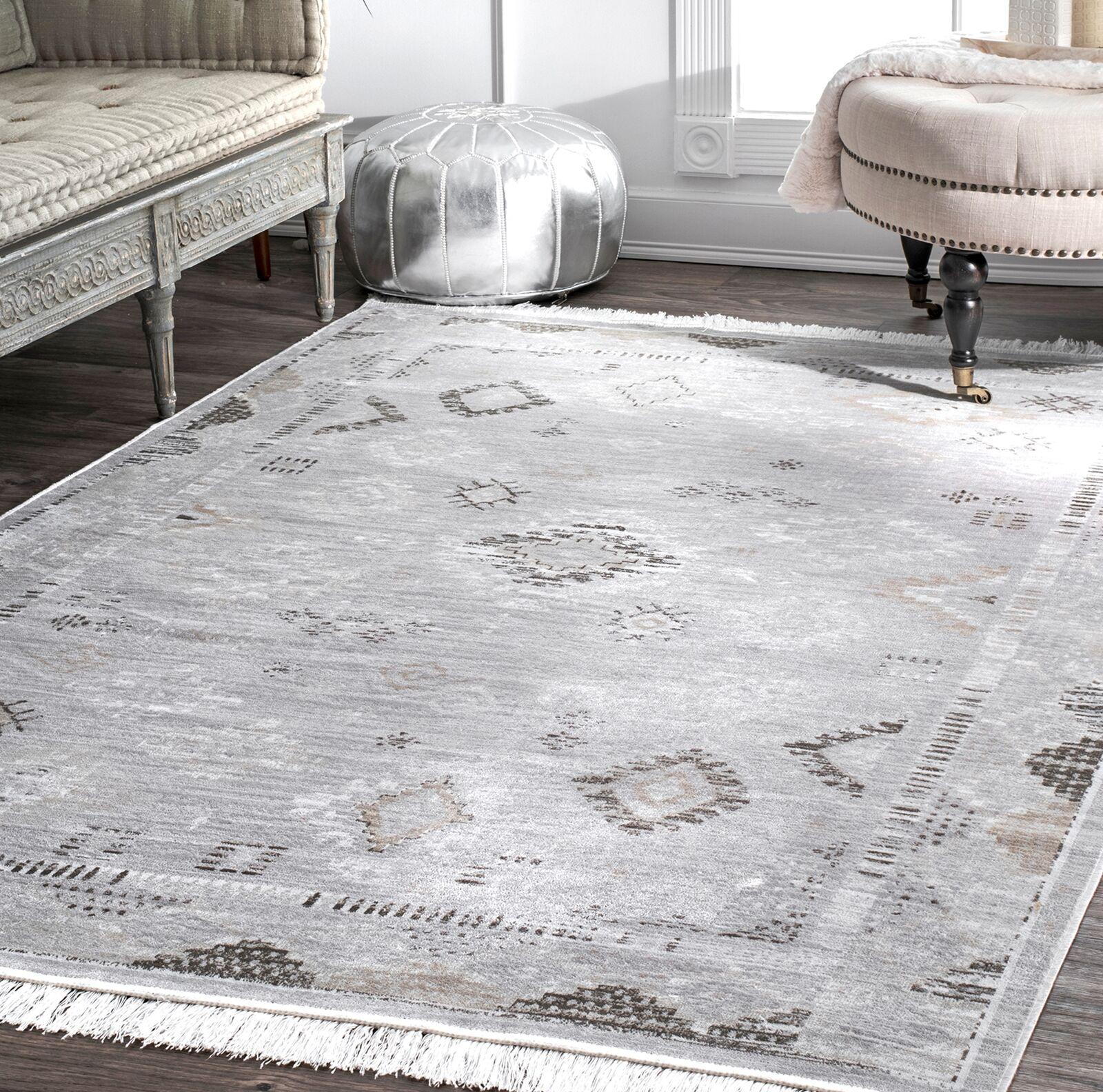 Centeno Silver Area Rug Rug Size: Rectangle 7'6