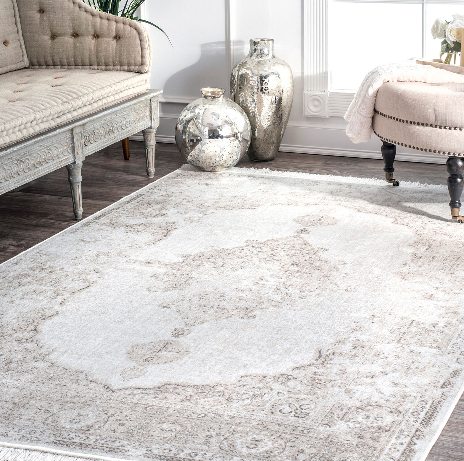 Centreville Ivory Area Rug Rug Size: Rectangle 9' x 12'