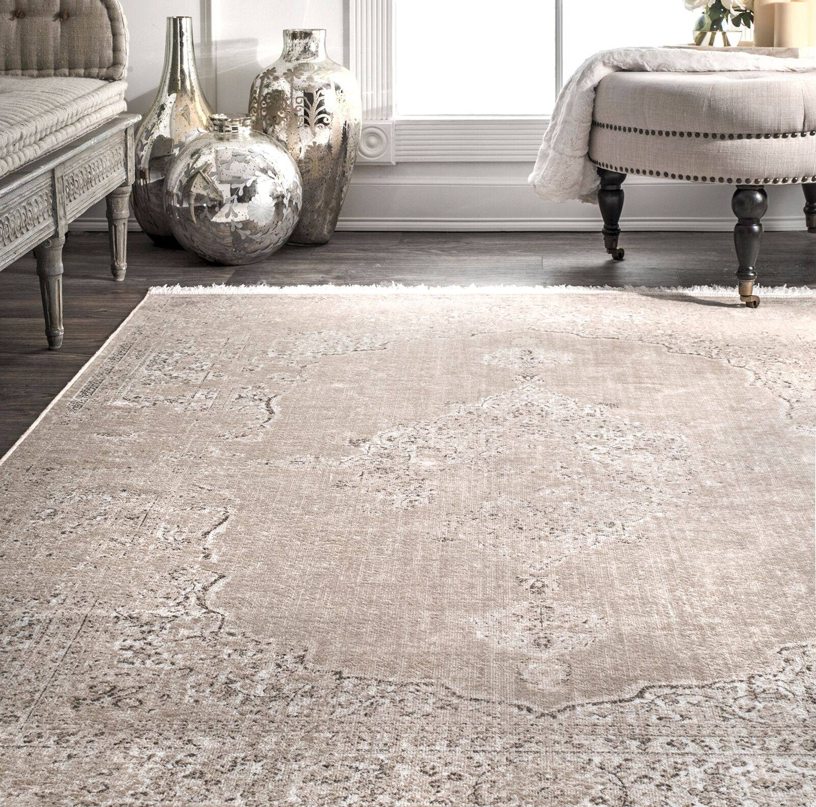 Cepeda Beige Area Rug Rug Size: Rectangle 9' x 12'