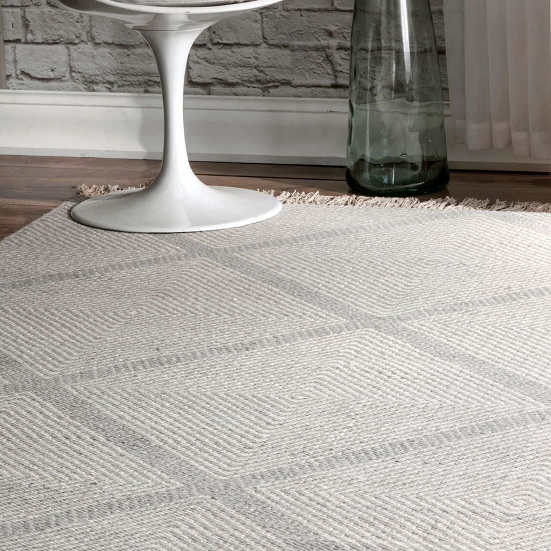 Lomas Wool Silver Area Rug Rug Size: Rectangle 8' 6