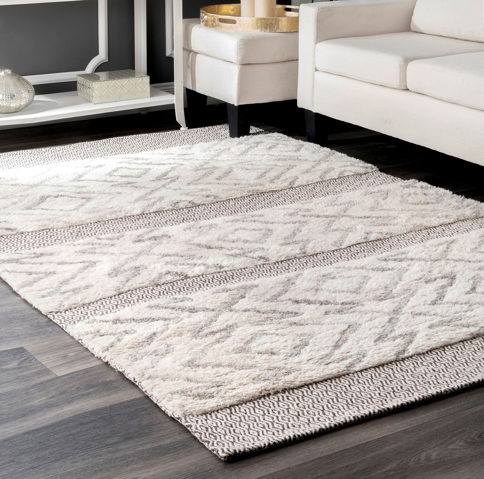 Lolley Gray Area Rug Rug Size: Rectangle 8' 6