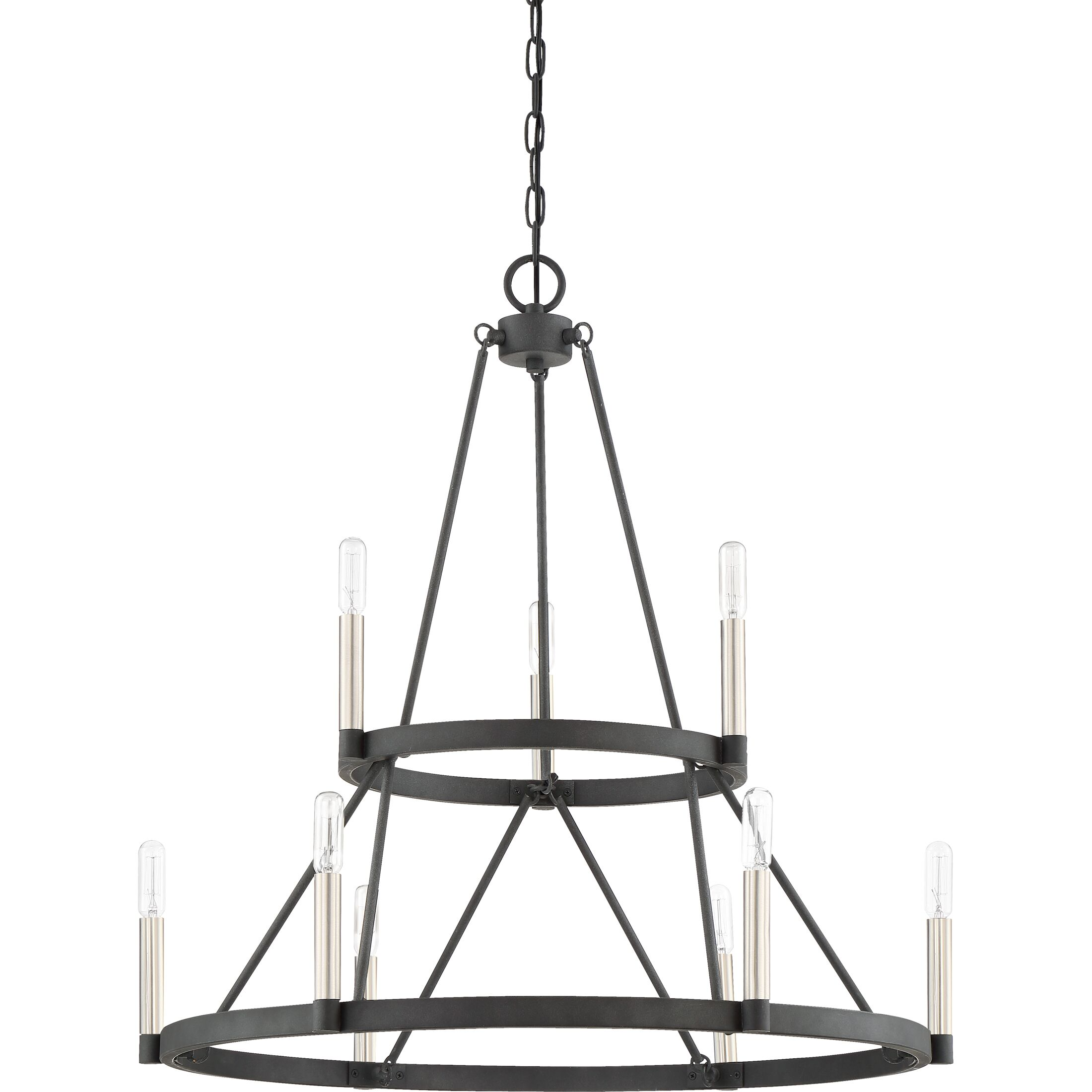 Lopes 9-Light Wagon Wheel Chandelier