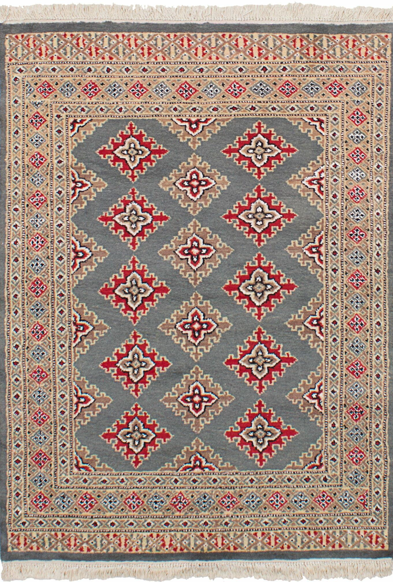 One-of-a-Kind Do Hand-Knotted Wool Gray Area Rug