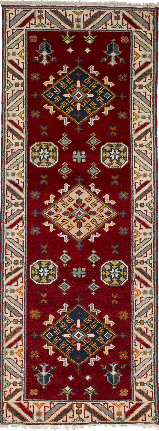One-of-a-Kind Doering Hand-Knotted Wool Dark Red Area Rug