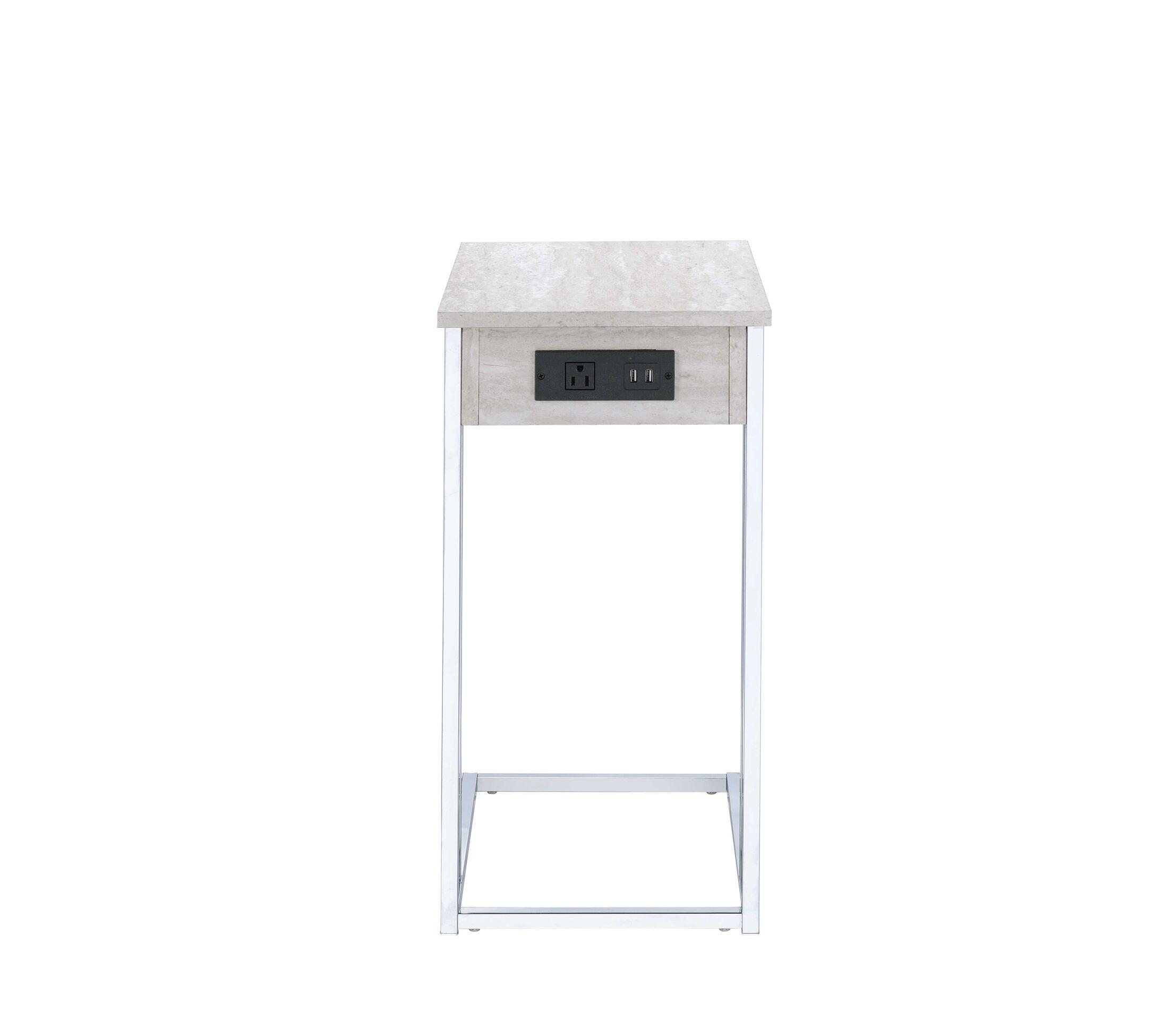Hempel End Table Color: White