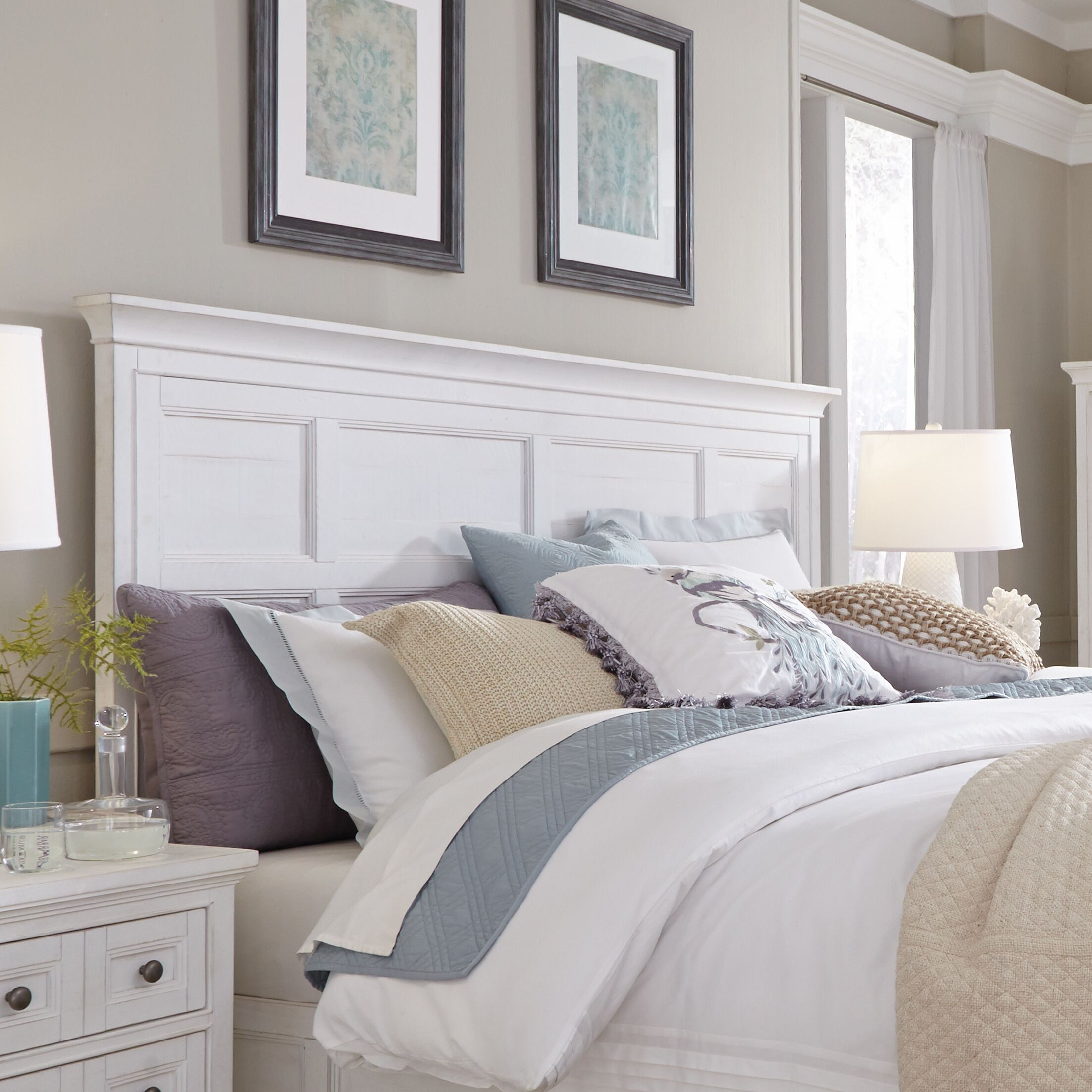 Cremeans Panel Headboard Size: King