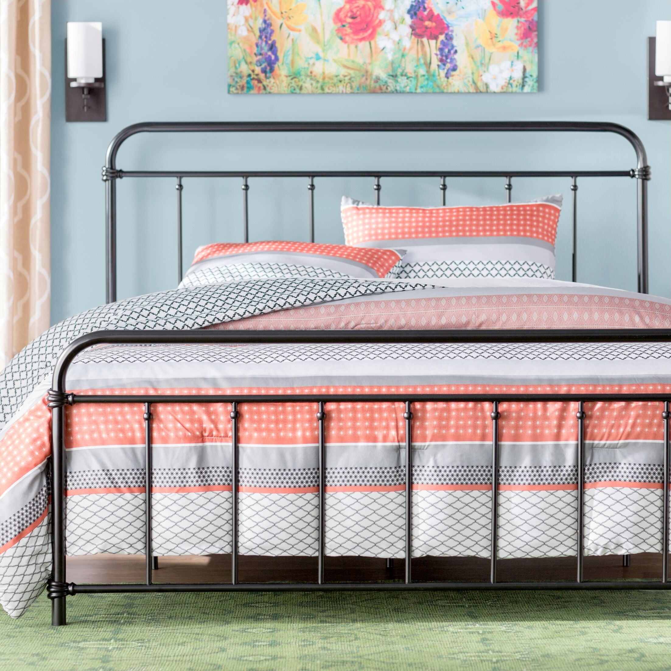 Matheney Panel Bed Size: Queen, Color: Black