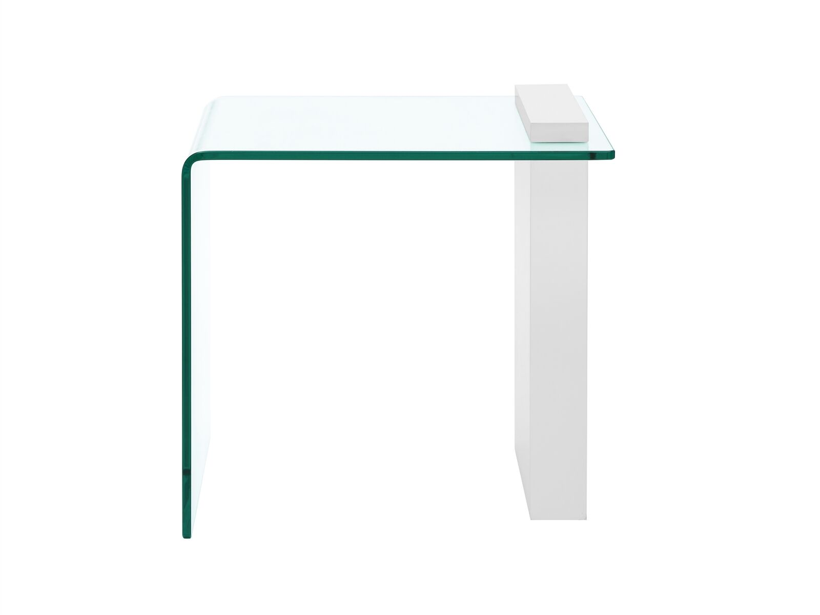 Gulley End Table Table Base Color: White Lacquer