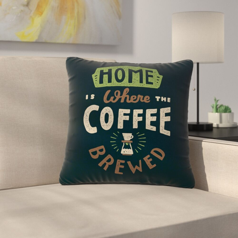 Tatak Waskitho Home is Where Vector Food Outdoor Throw Pillow Size: 16