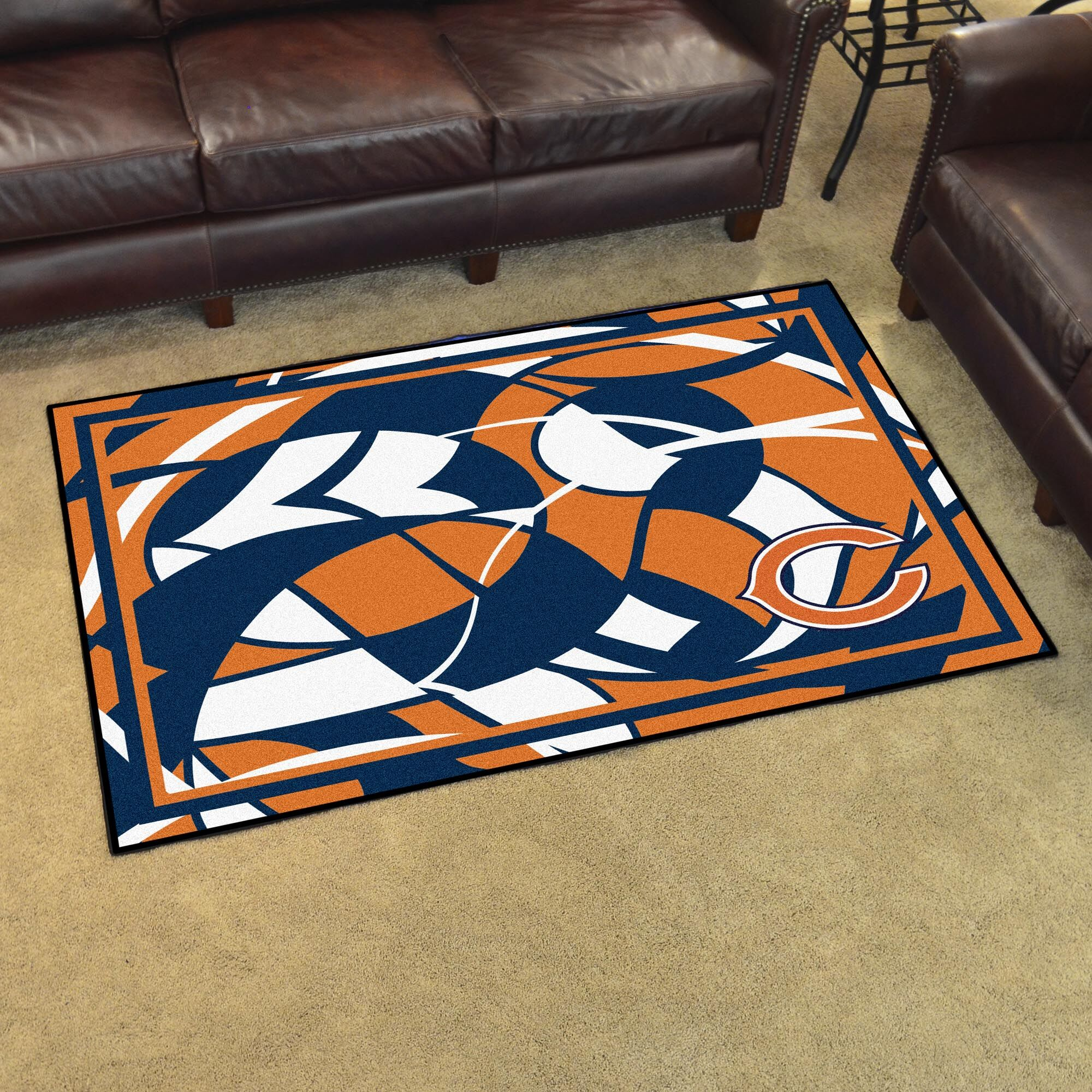NFL Red Area Rug Team: Chicago Bears