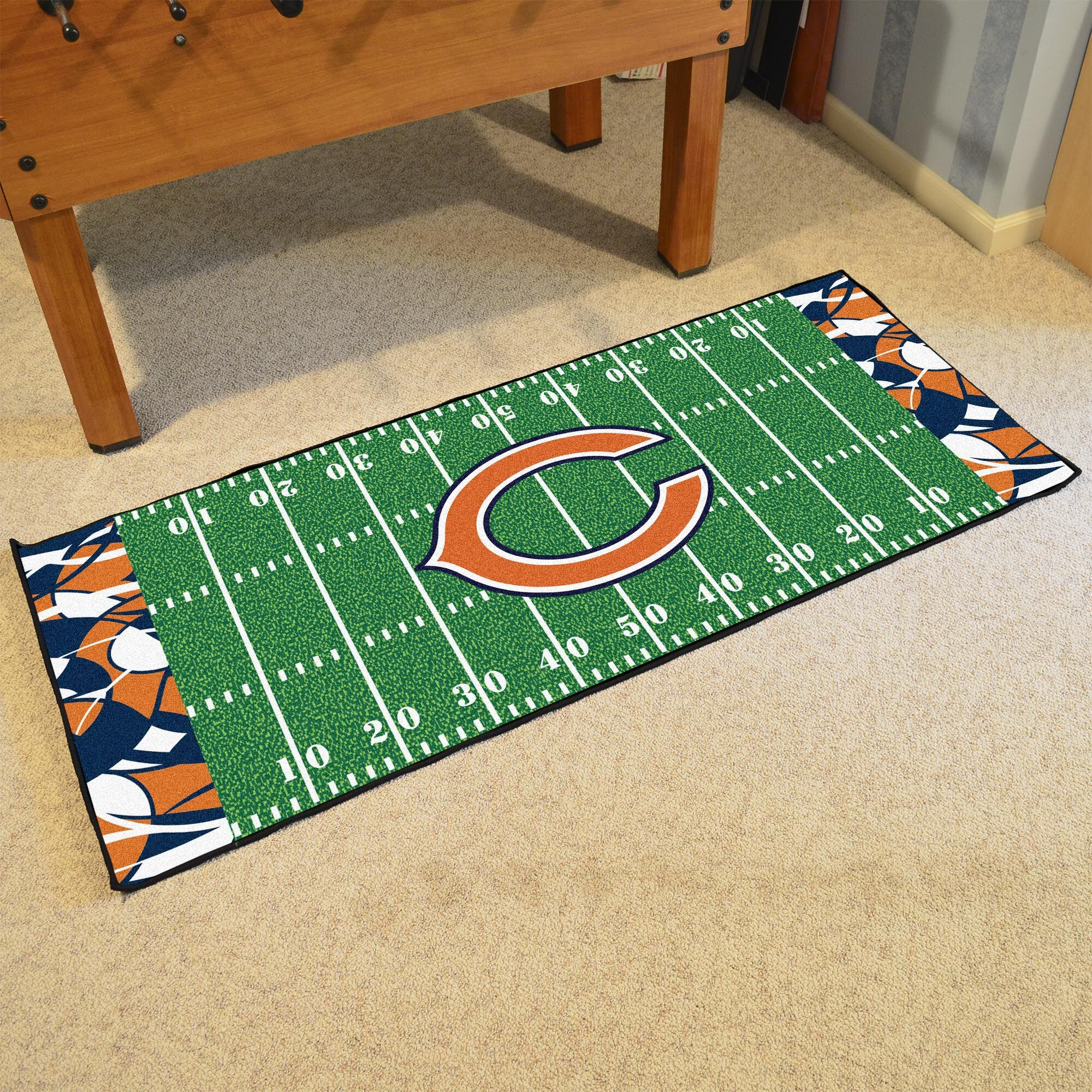 NFL Green Area Rug Team: Chicago Bears