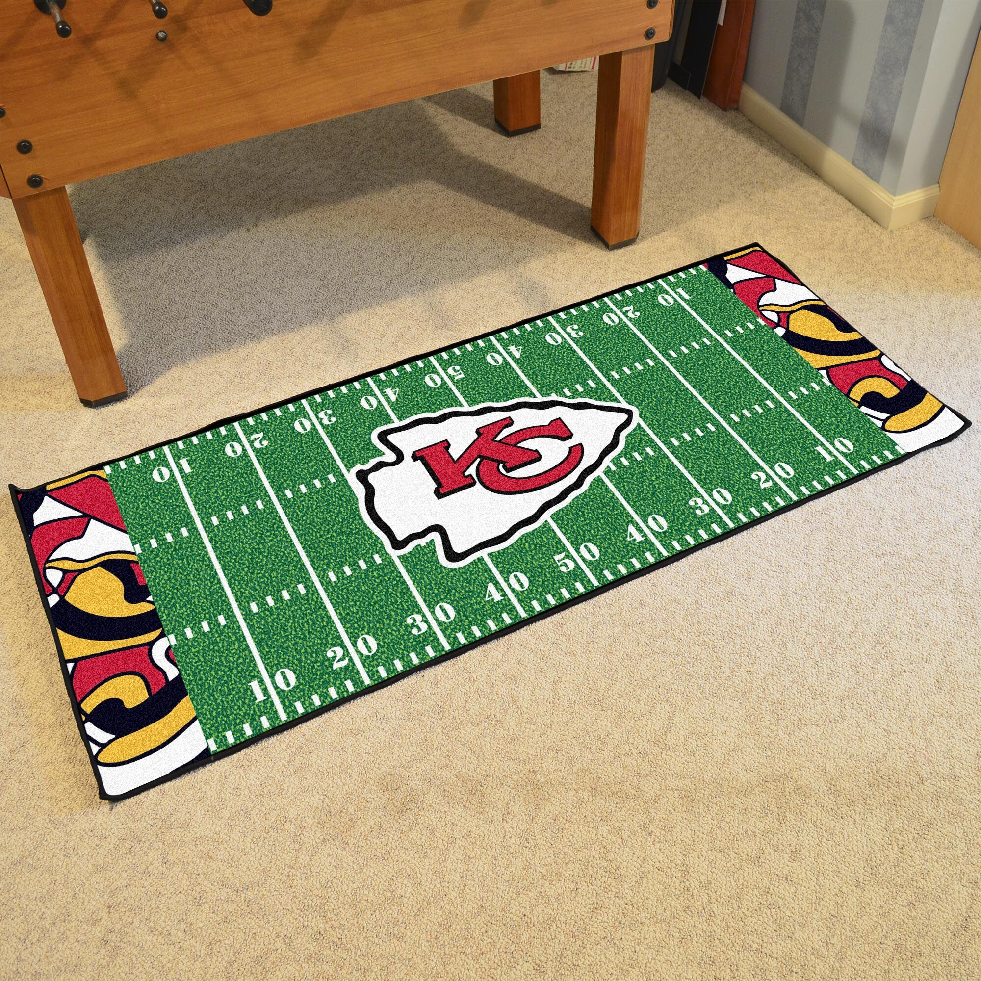 NFL Green Area Rug Team: Kansas City Chiefs