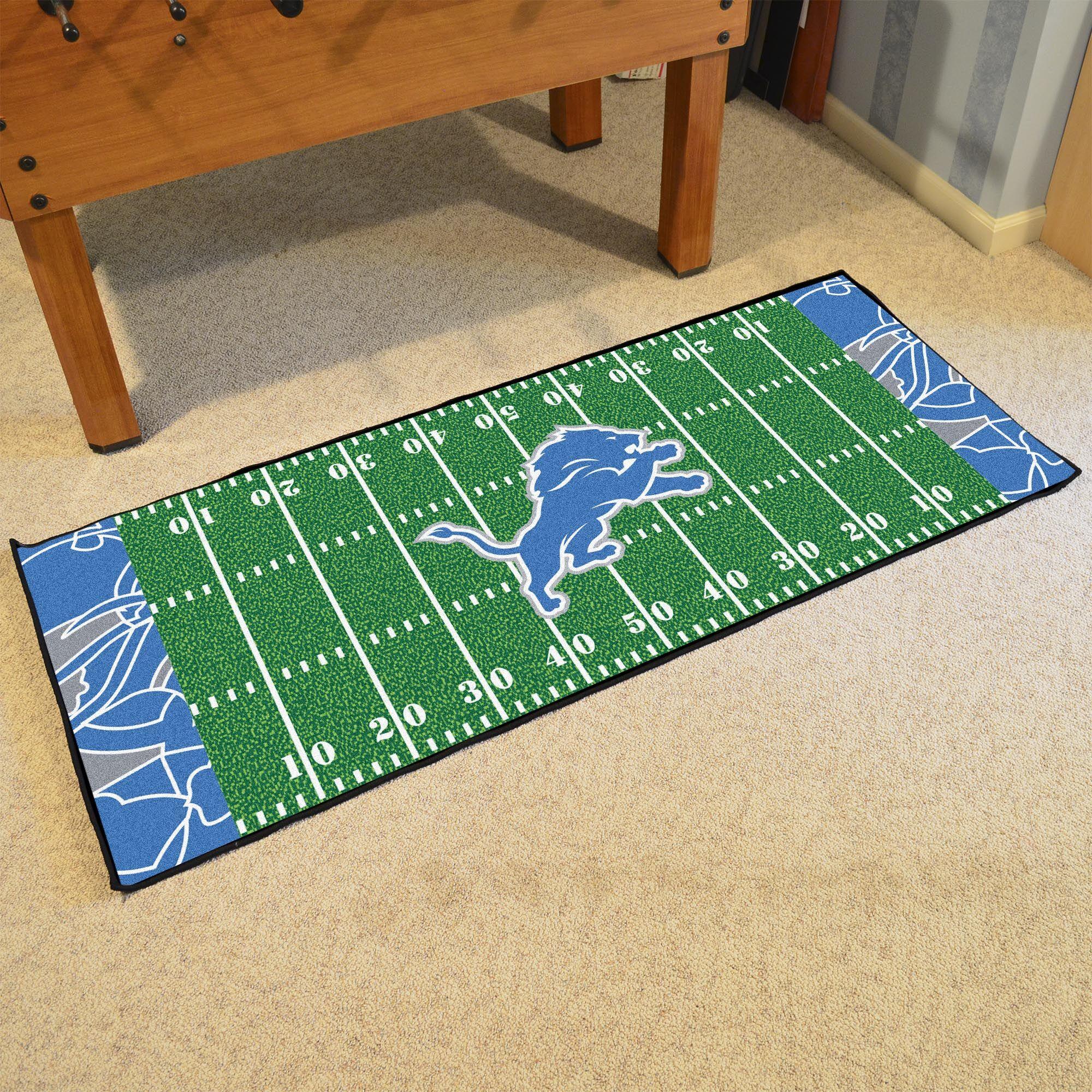NFL Green Area Rug Team: Detroit Lions