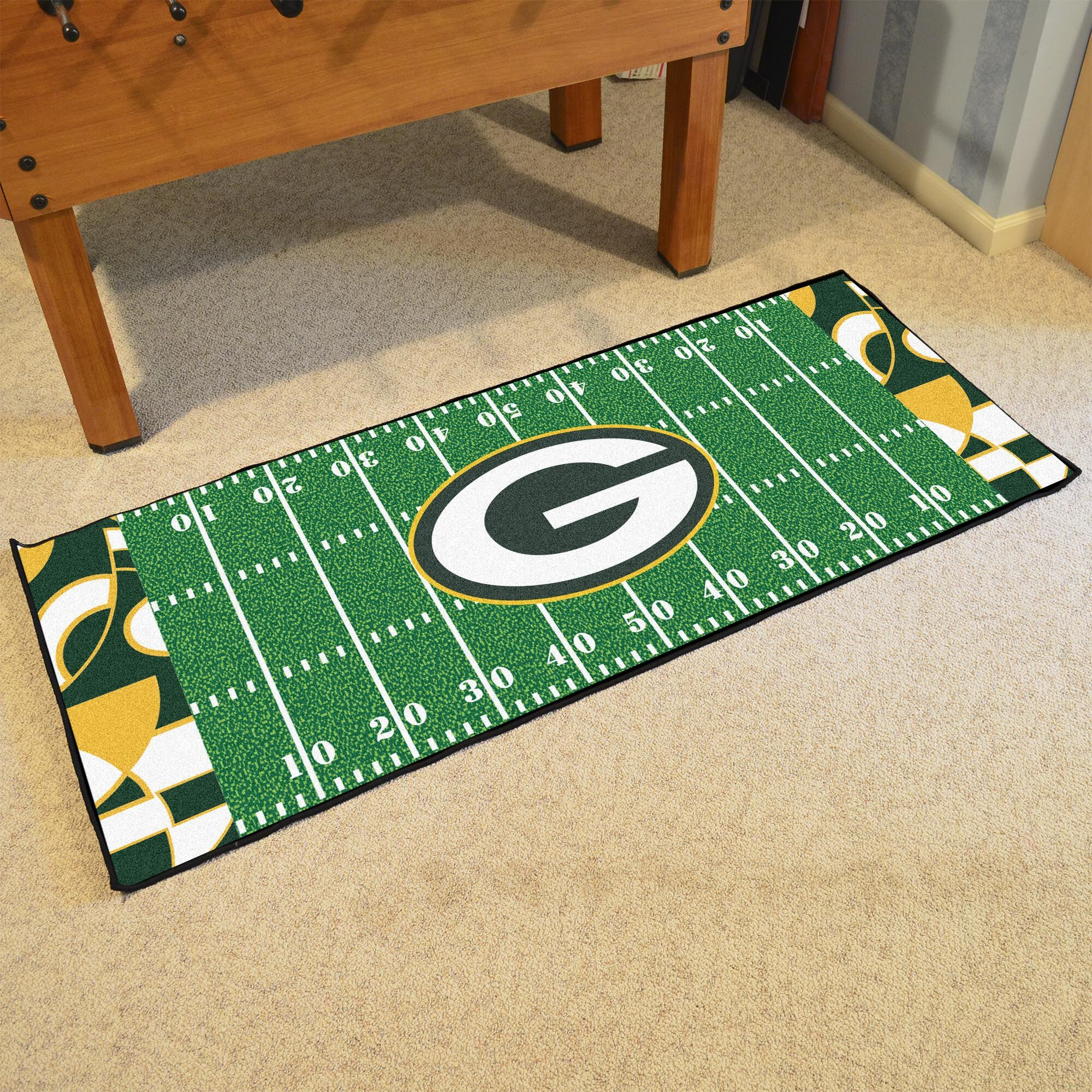 NFL Green Area Rug Team: Green Bay Packers